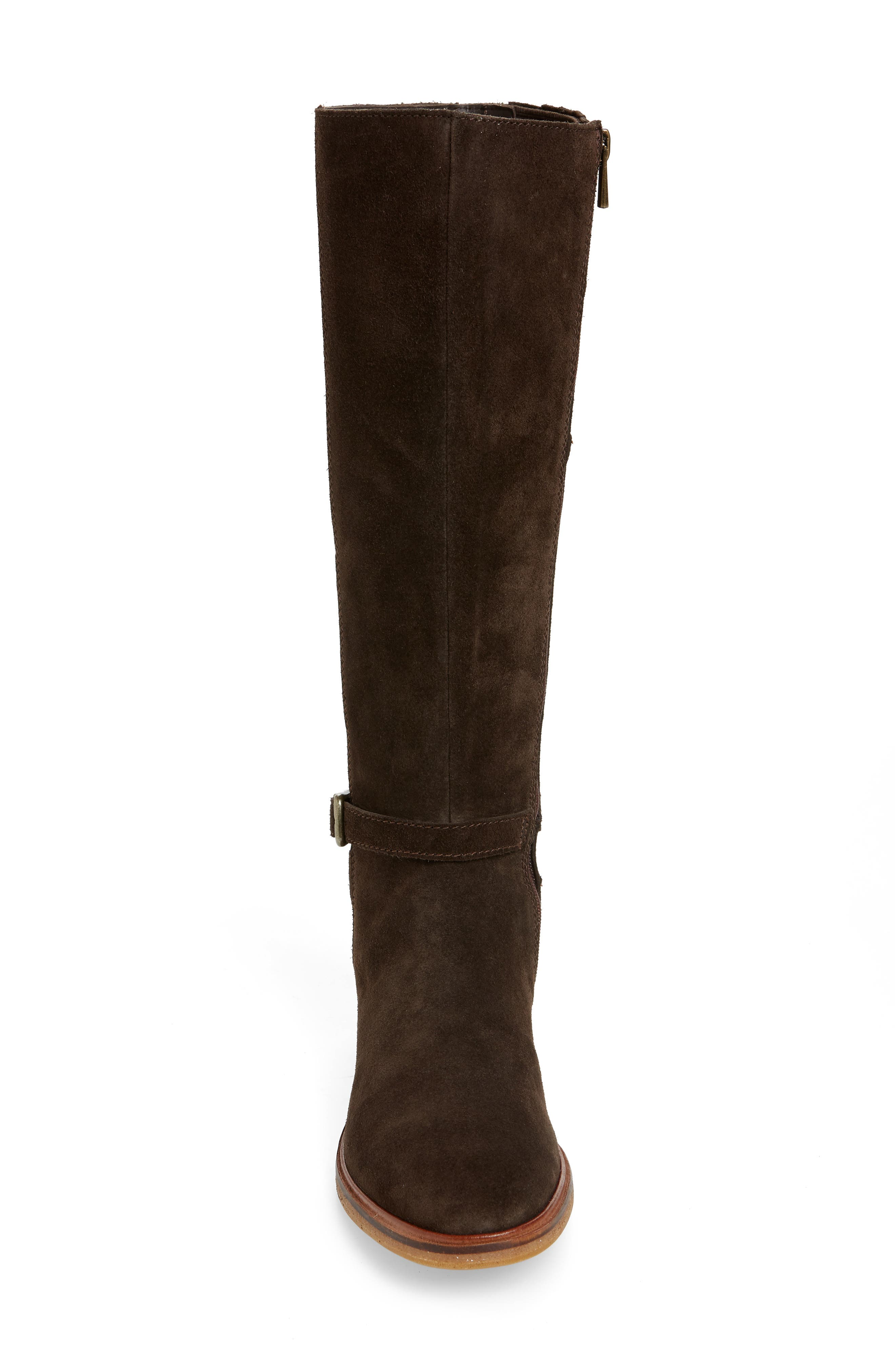 Clarkdale Clad Boot,                             Alternate thumbnail 4, color,                             BROWN SUEDE