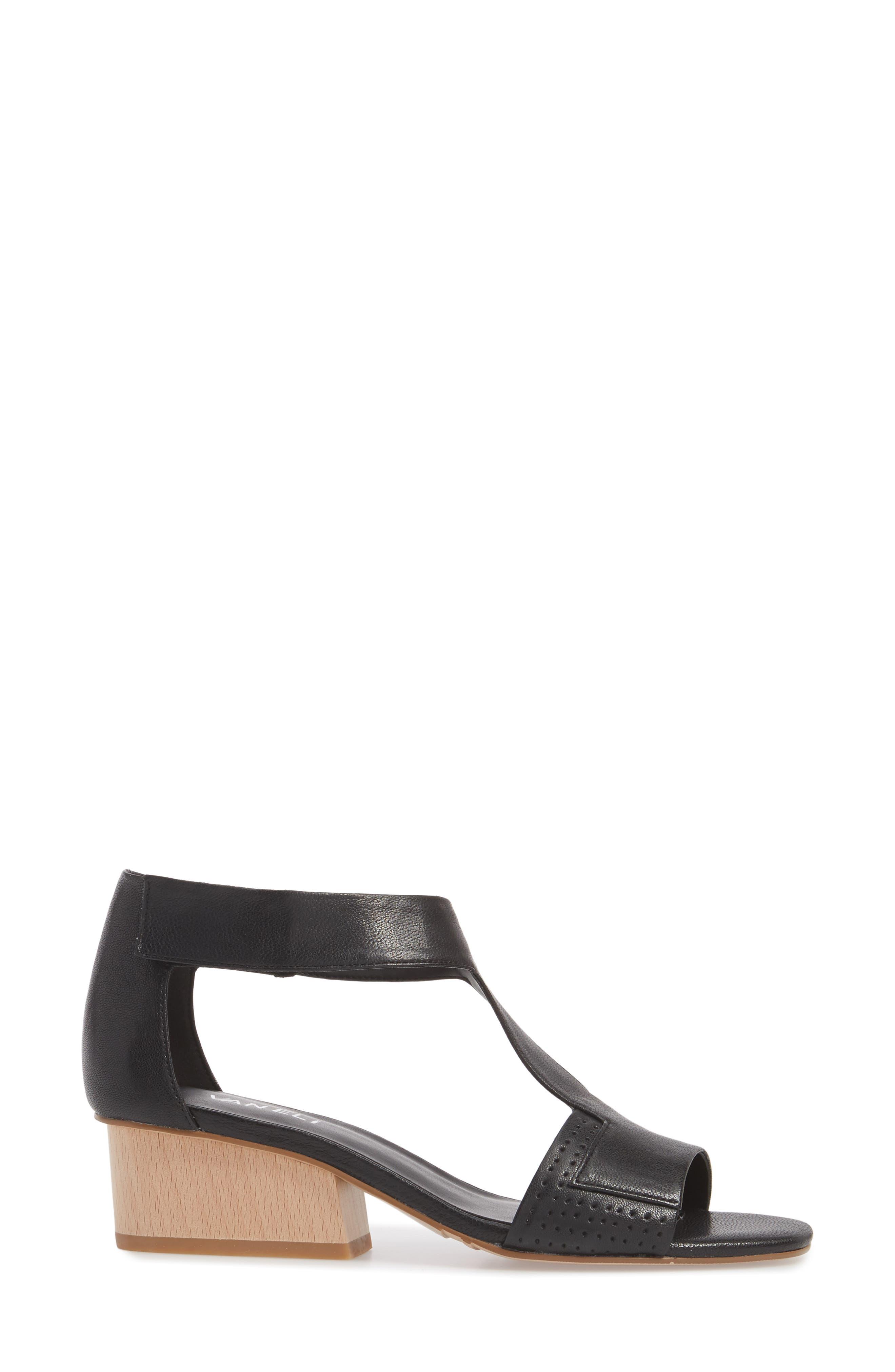 Calyx Block Heel Sandal,                             Alternate thumbnail 3, color,                             BLACK LEATHER