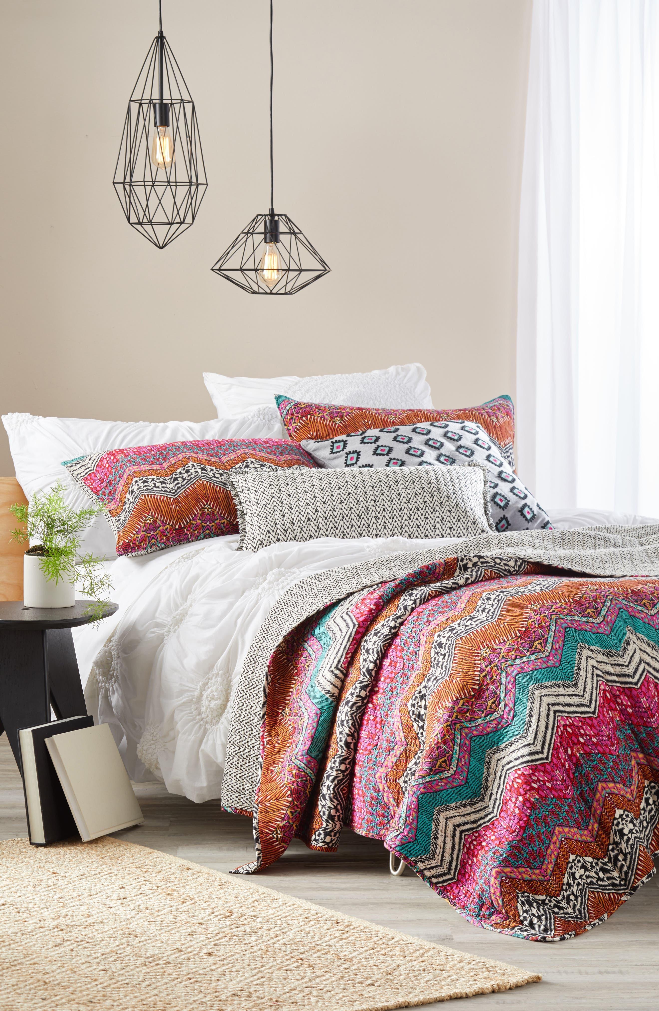 Nala Towel Stitch Accent Pillow,                             Alternate thumbnail 4, color,
