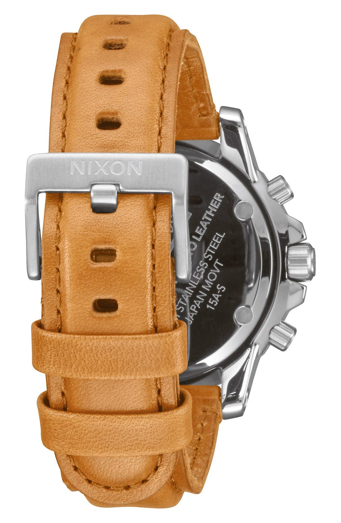 'The Ranger' Chronograph Leather Strap Watch, 44mm,                             Alternate thumbnail 13, color,