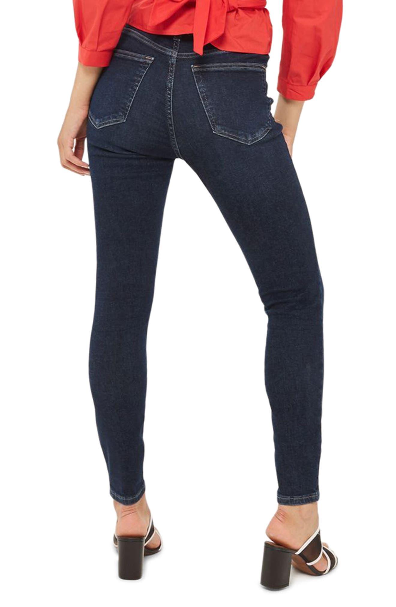 Jamie High Waist Ankle Skinny Jeans,                             Alternate thumbnail 2, color,                             401