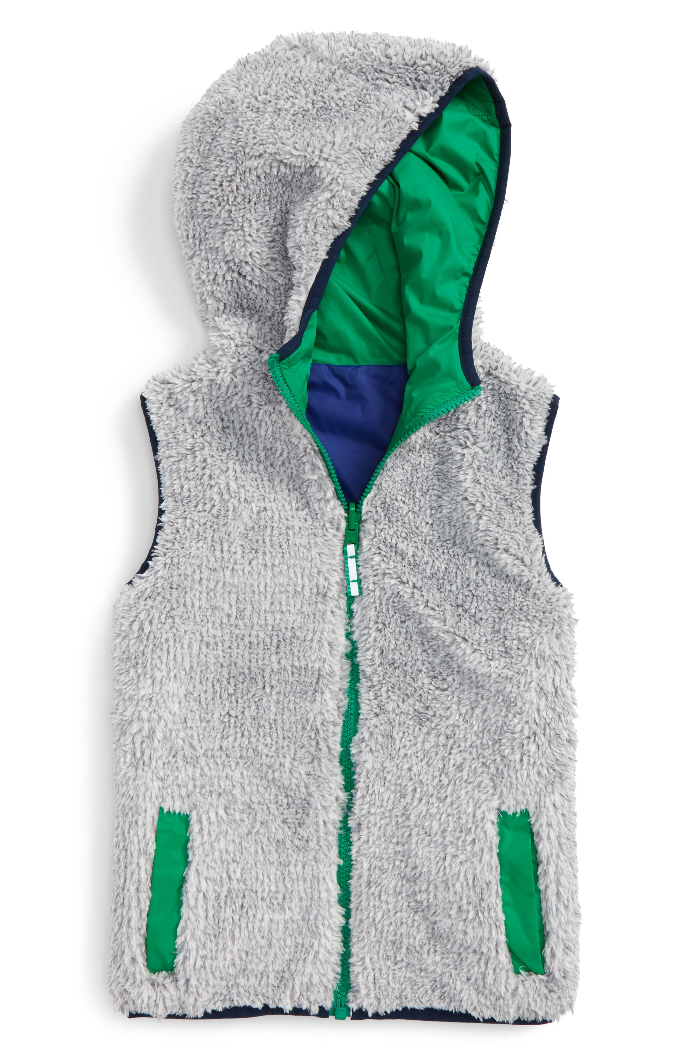 Cozy Reversible Vest,                         Main,                         color,