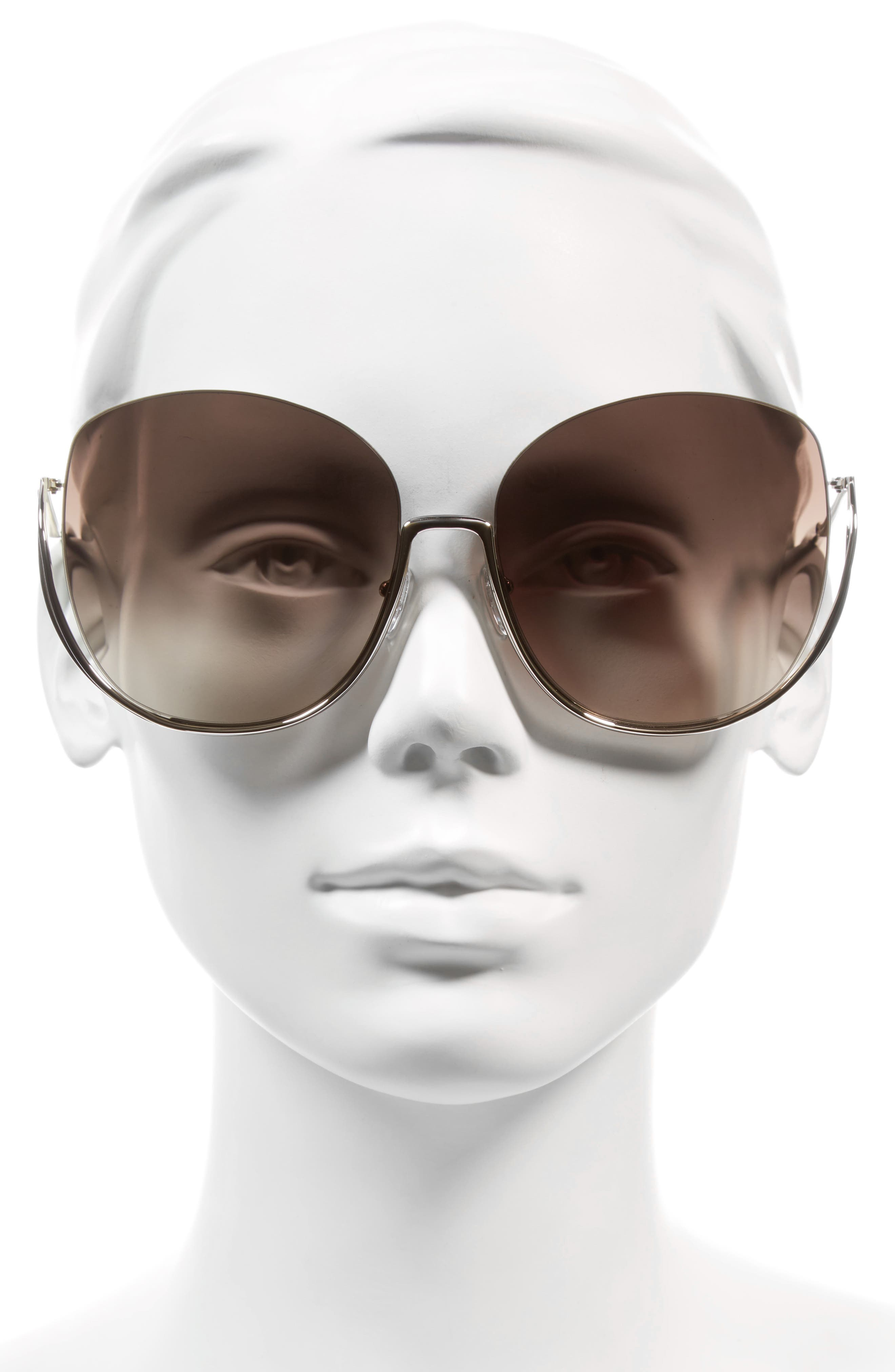 CHLOÉ,                             Milla 64mm Oversize Sunglasses,                             Alternate thumbnail 2, color,                             710