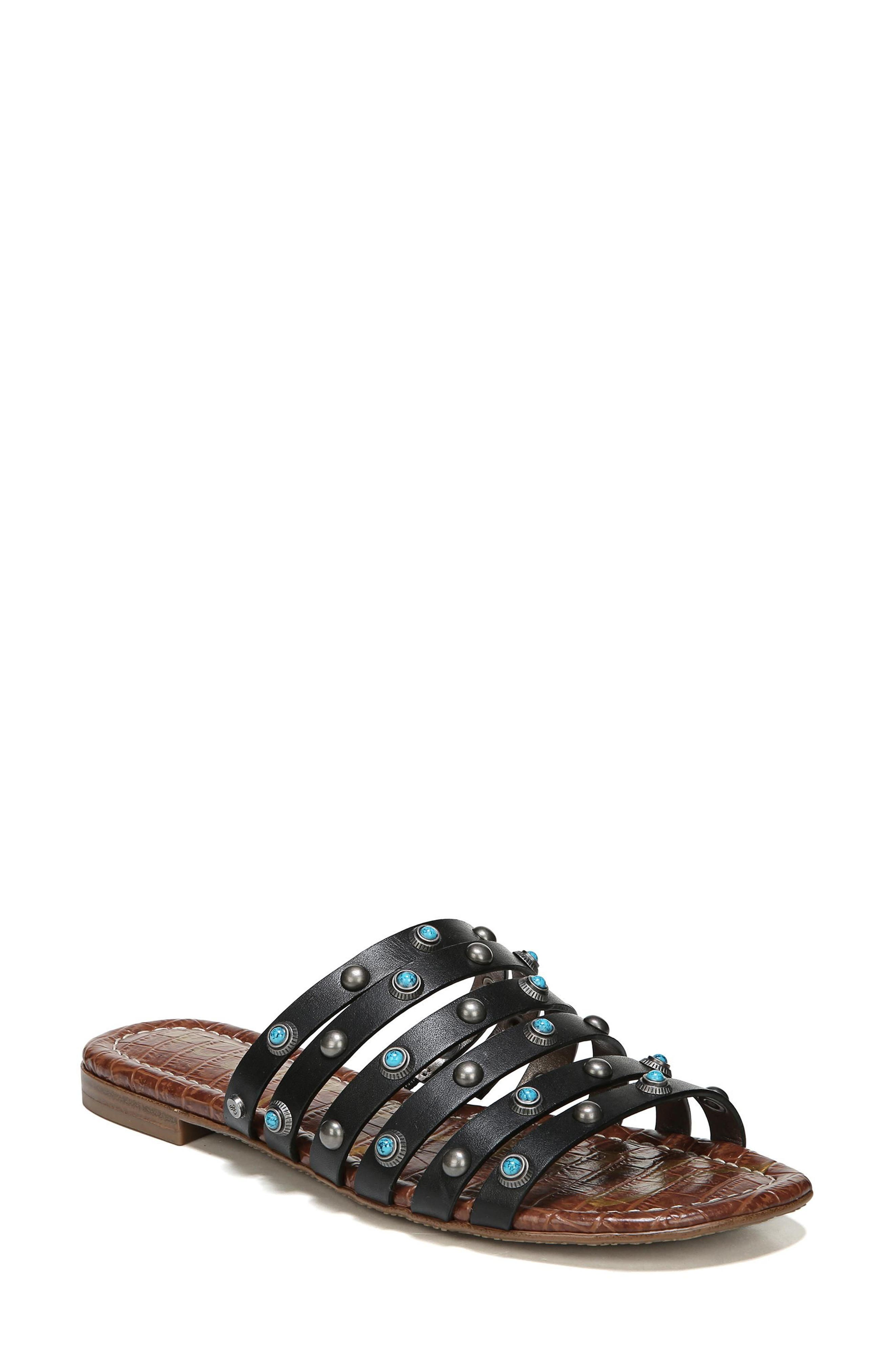 Brea Studded Slide Sandal,                             Main thumbnail 1, color,