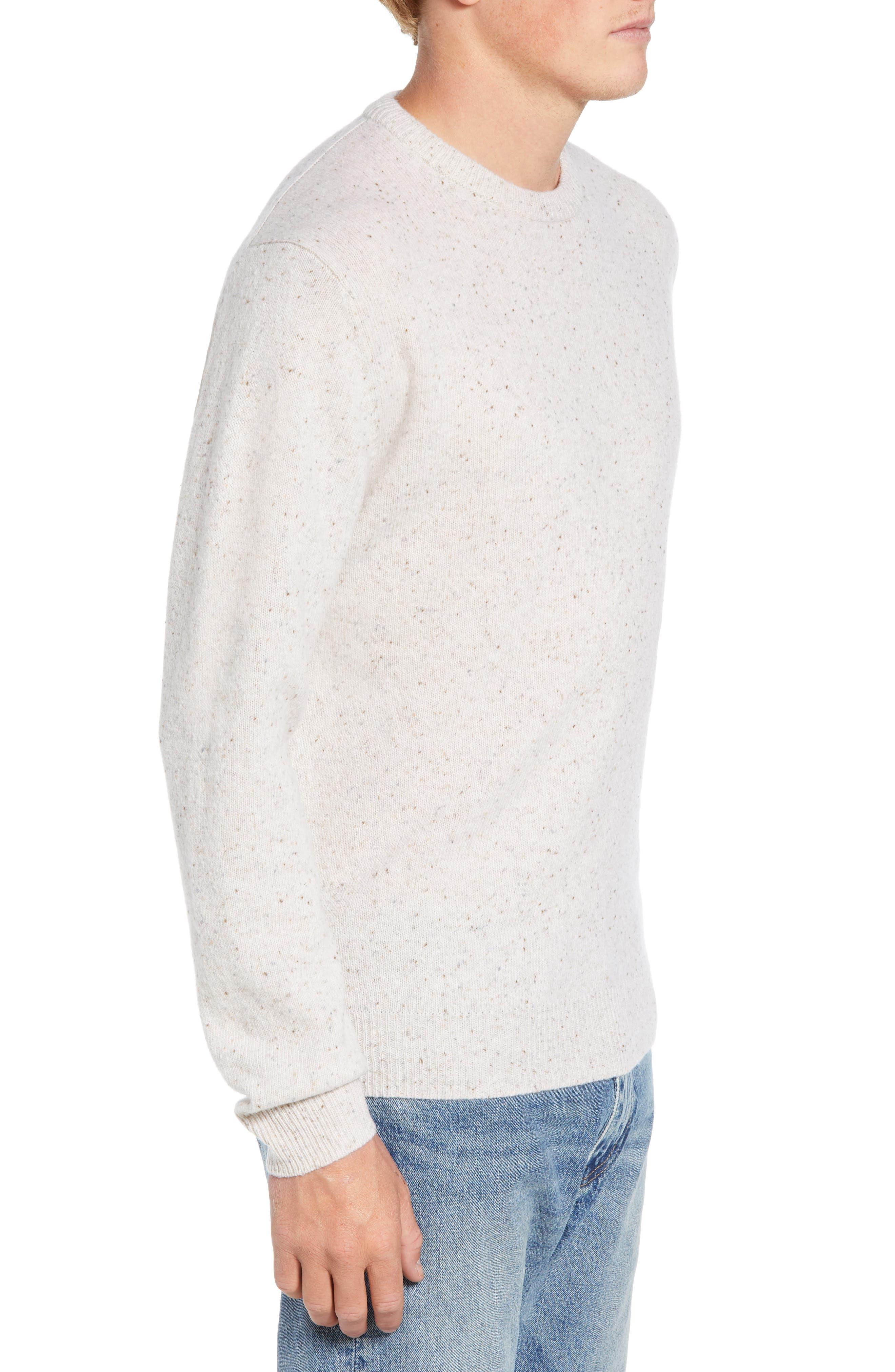 Donegal Sweater,                             Alternate thumbnail 3, color,                             CUBA WHITE