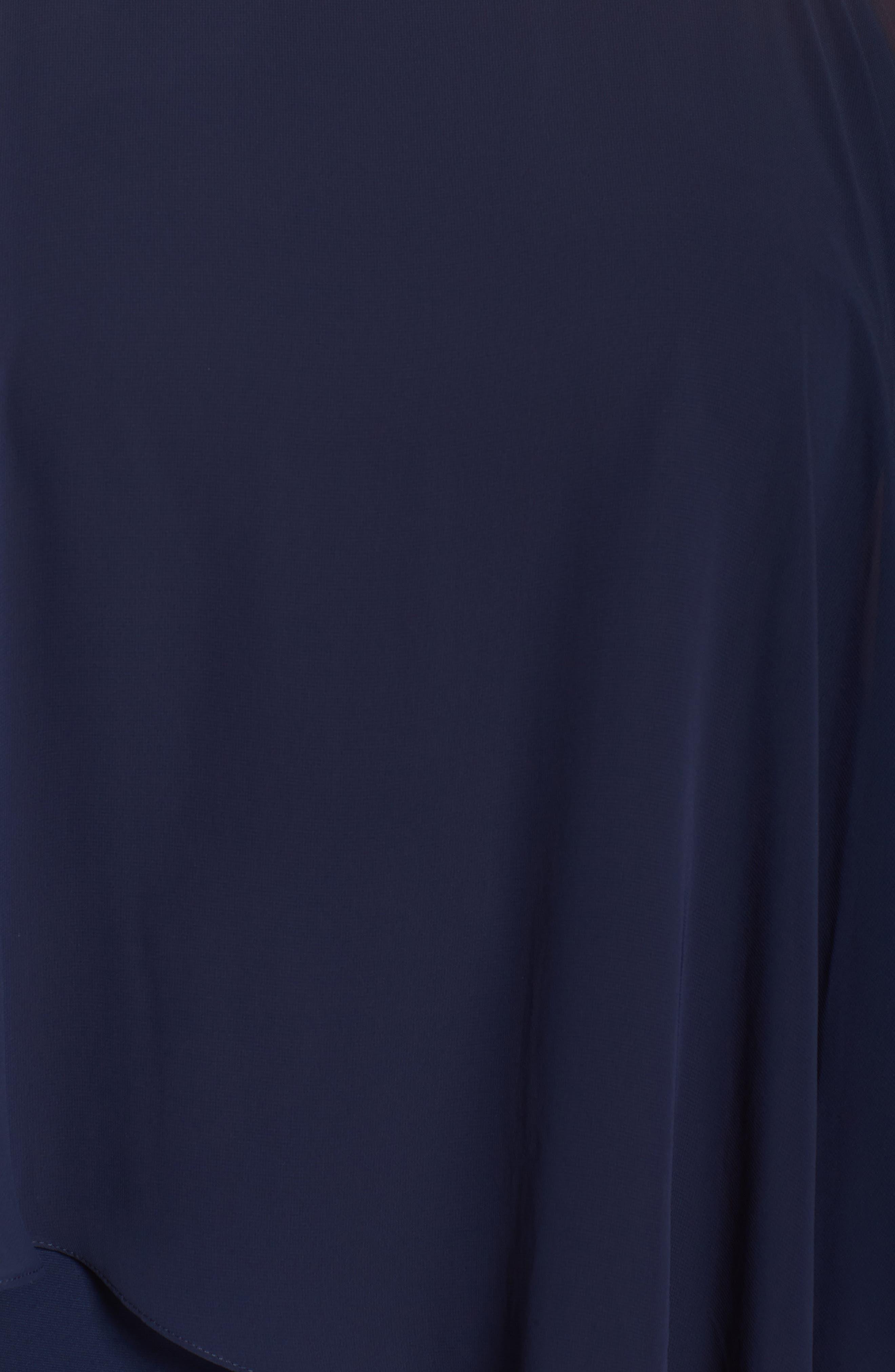 Embellished Chiffon Overlay Sheath Dress,                             Alternate thumbnail 6, color,                             408