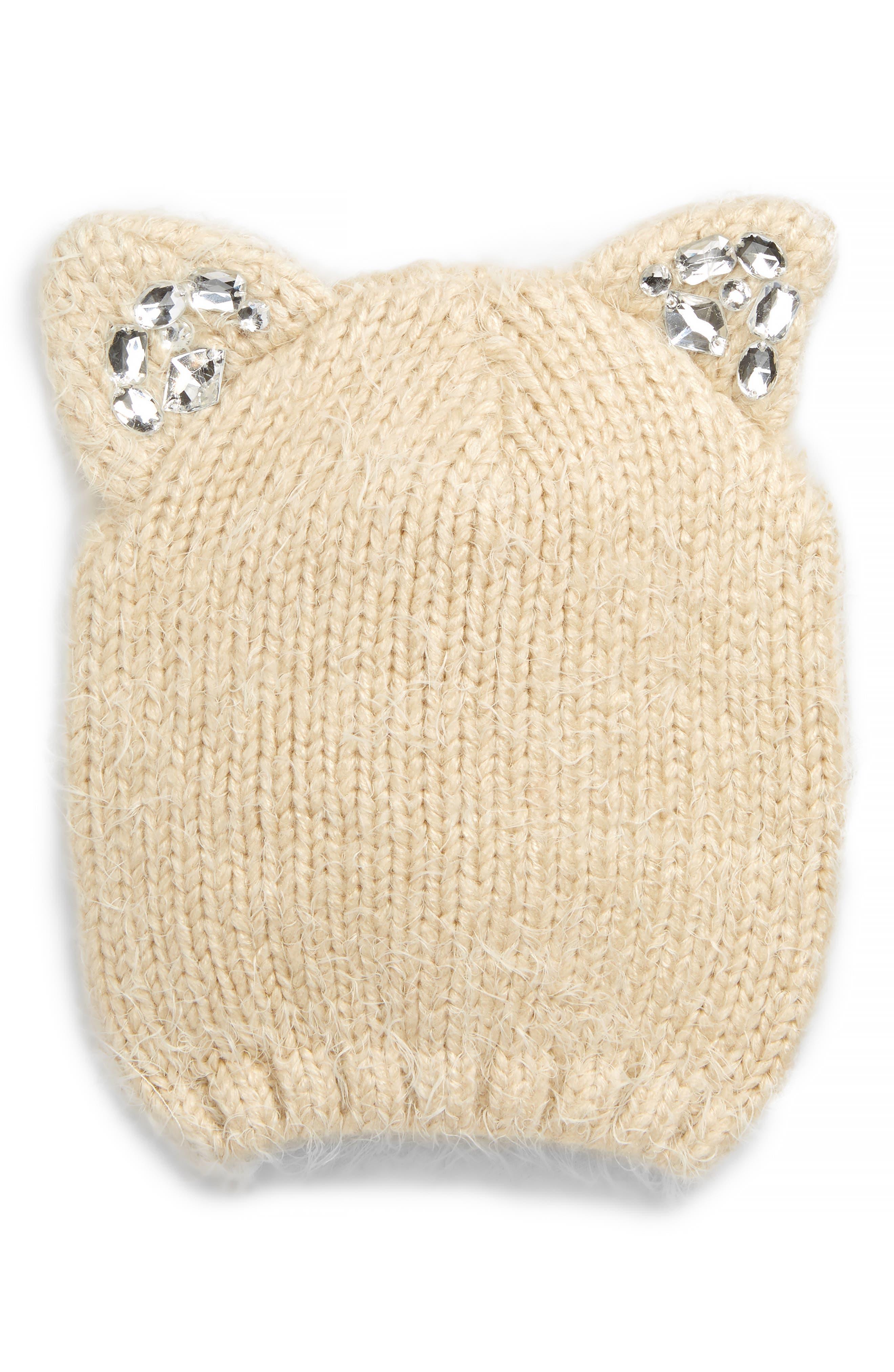 Girls Tucker  Tate Crystal Cat Ear Beanie