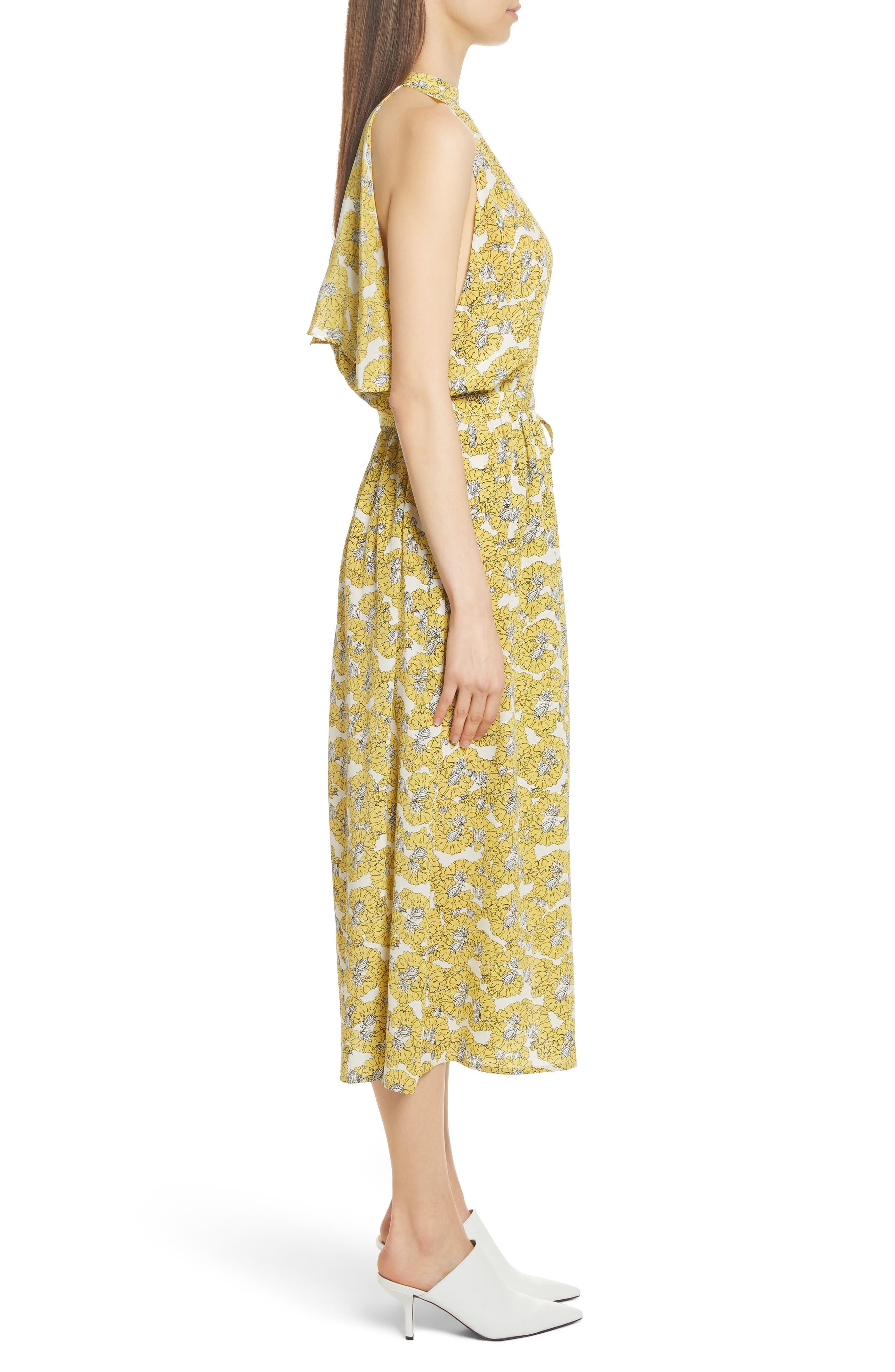 Dania Floral Print Dress,                             Alternate thumbnail 3, color,                             730