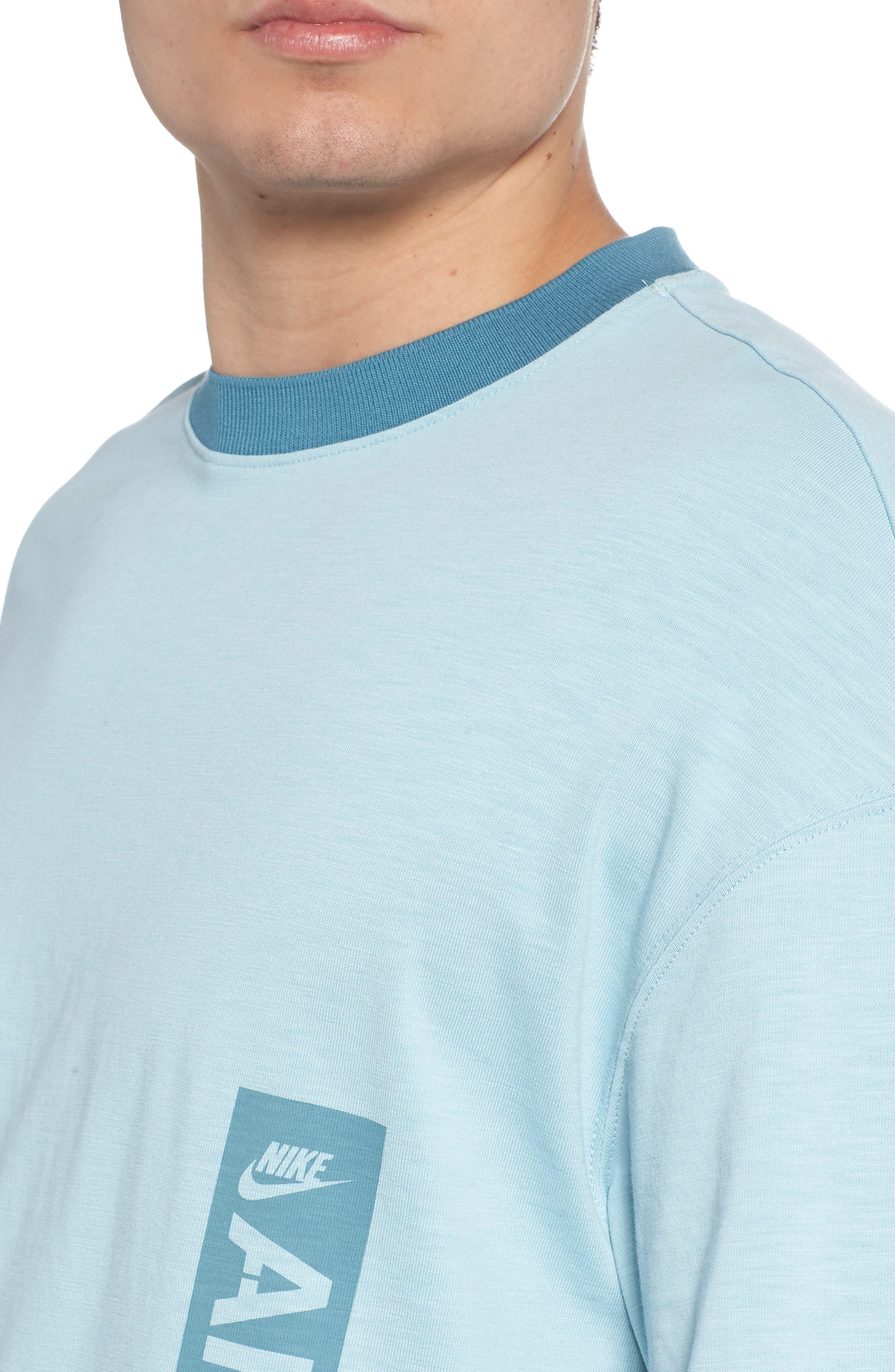 Sportswear AF1 Graphic T-Shirt,                             Alternate thumbnail 4, color,                             OCEAN BLISS/ NOISE AQUA