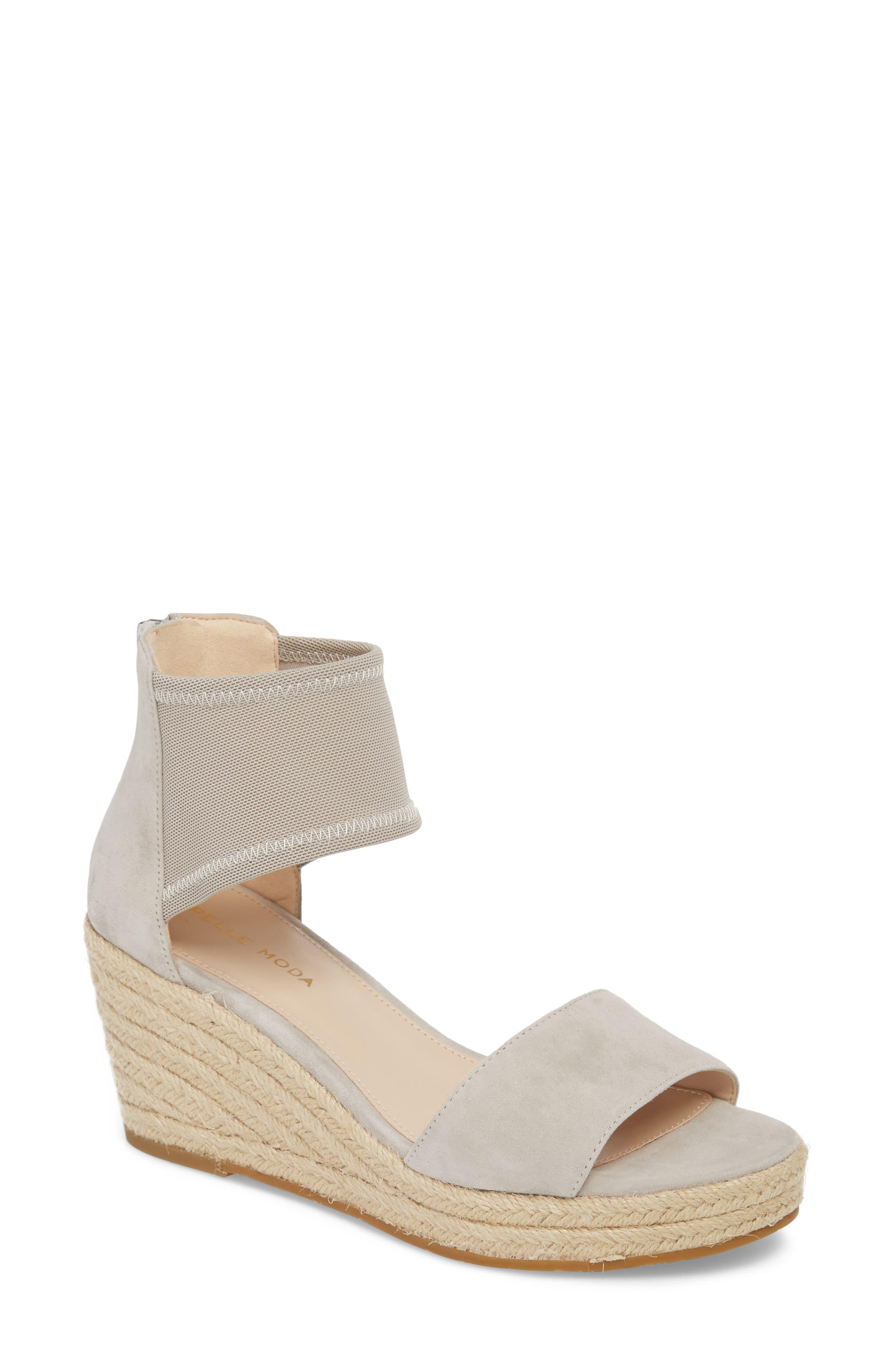 Kona Platform Wedge Sandal,                         Main,                         color, CLOUD SUEDE