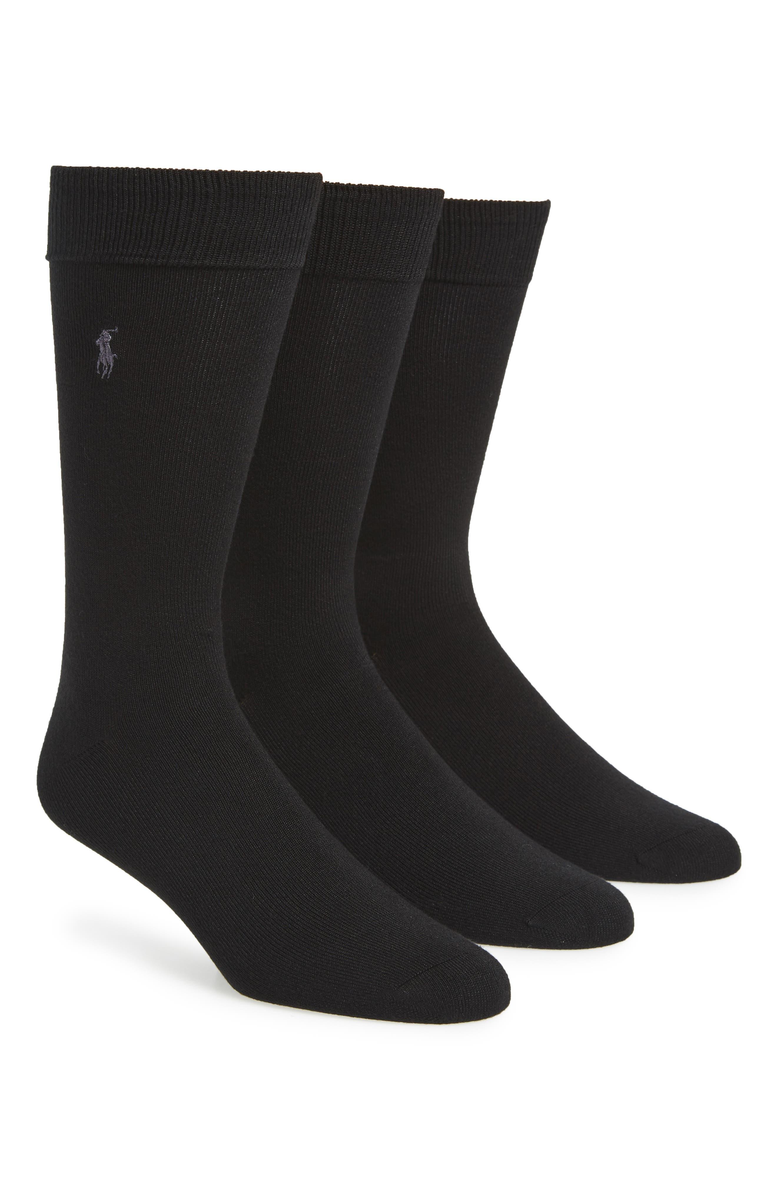 Assorted 3-Pack Supersoft Socks,                             Alternate thumbnail 2, color,                             BLACK
