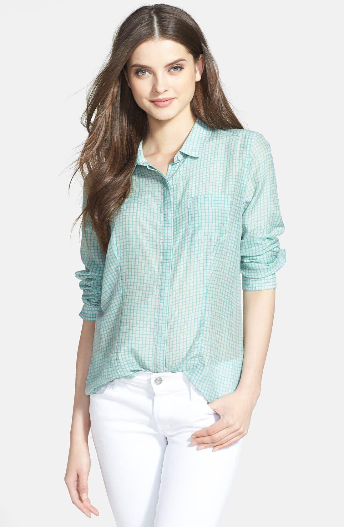 Cotton & Silk Shirt,                             Main thumbnail 9, color,