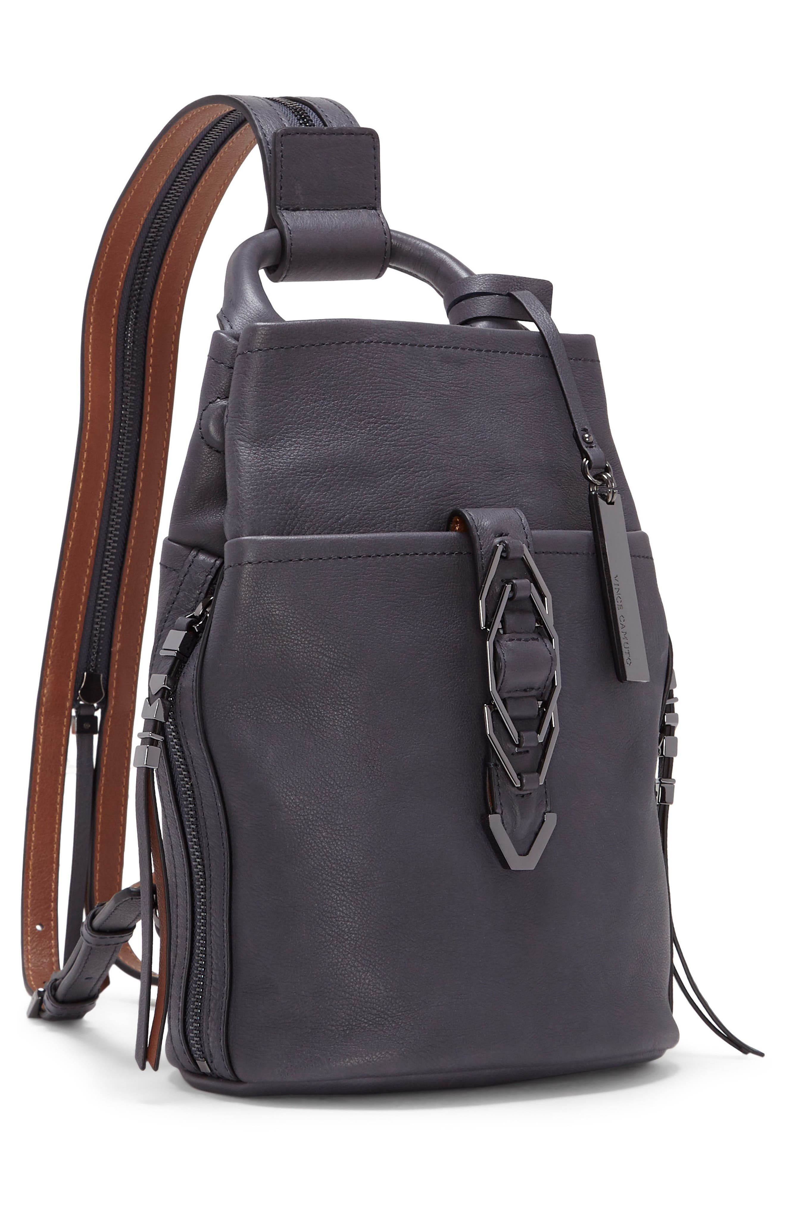 Small Luk Adjustable Leather Backpack,                             Alternate thumbnail 8, color,