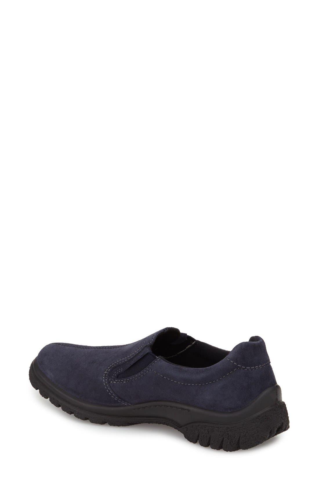 Parson Waterproof Gore-Tex<sup>®</sup> Slip-On Sneaker,                             Alternate thumbnail 2, color,                             NAVY SUEDE