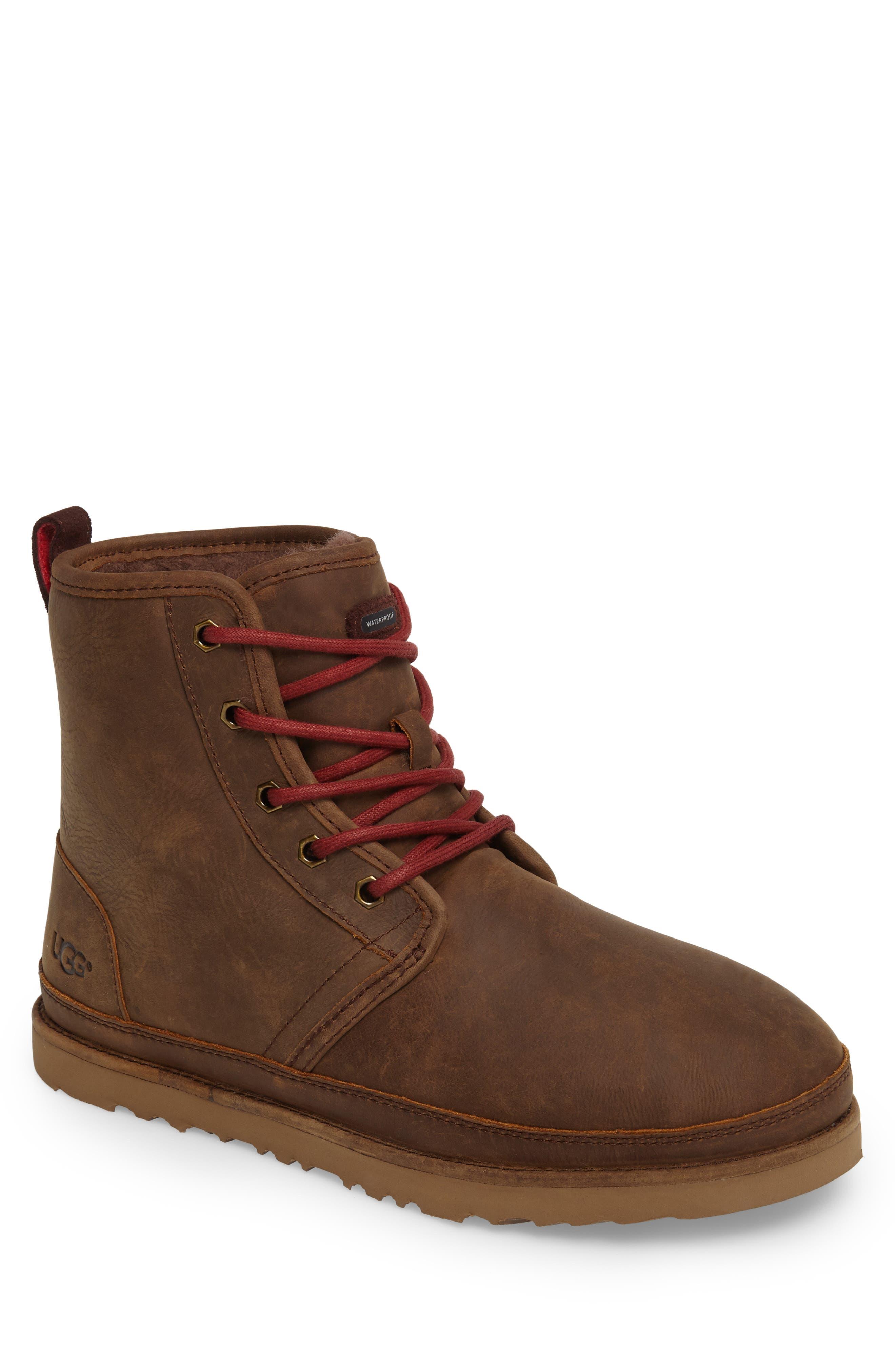 Ugg Harkley Plain Toe Waterproof Waterproof Boot, Brown