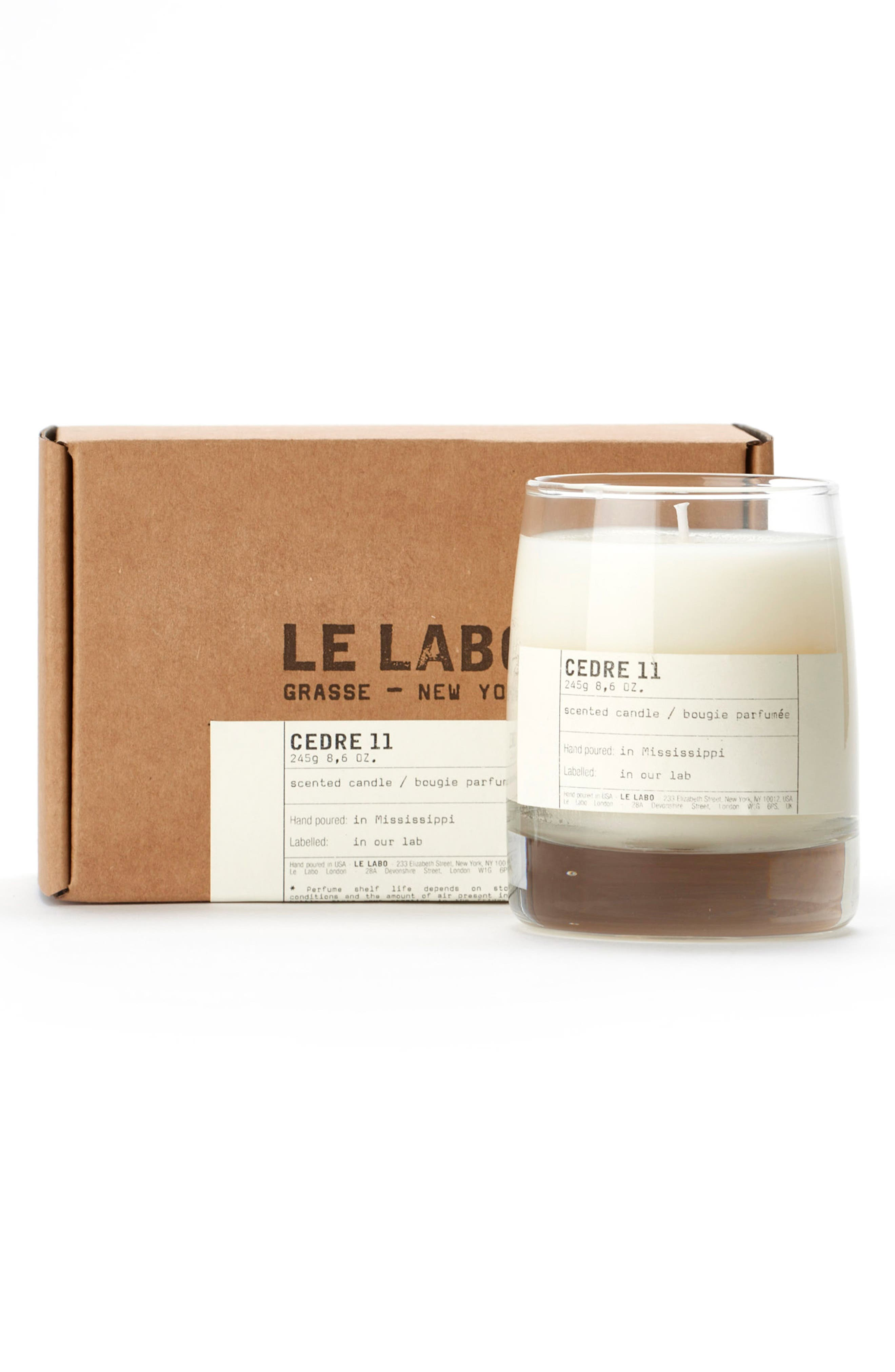 'Cedre 11' Classic Candle,                             Alternate thumbnail 3, color,                             000