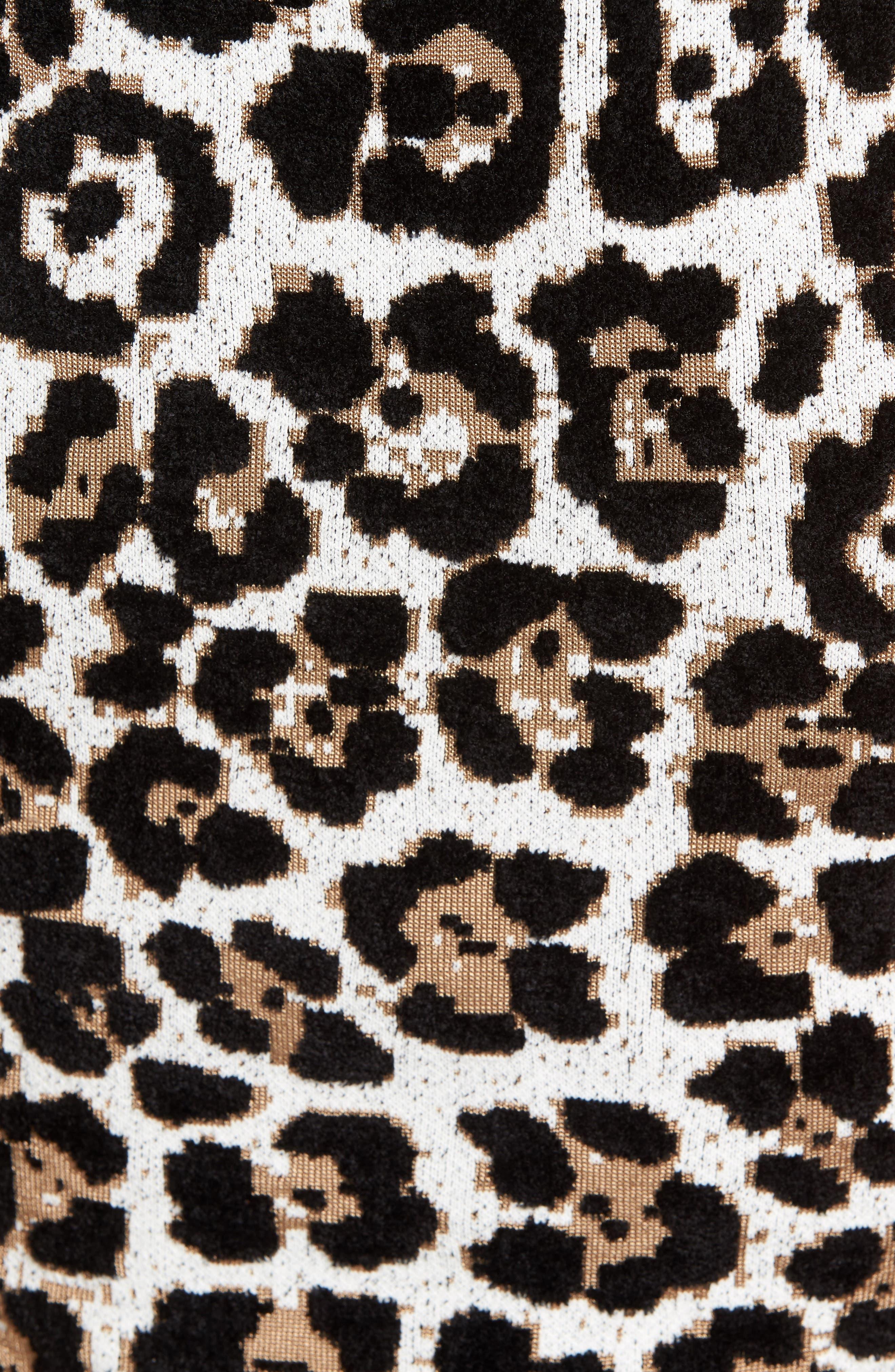 Animal Print Sheath Dress,                             Alternate thumbnail 5, color,                             201