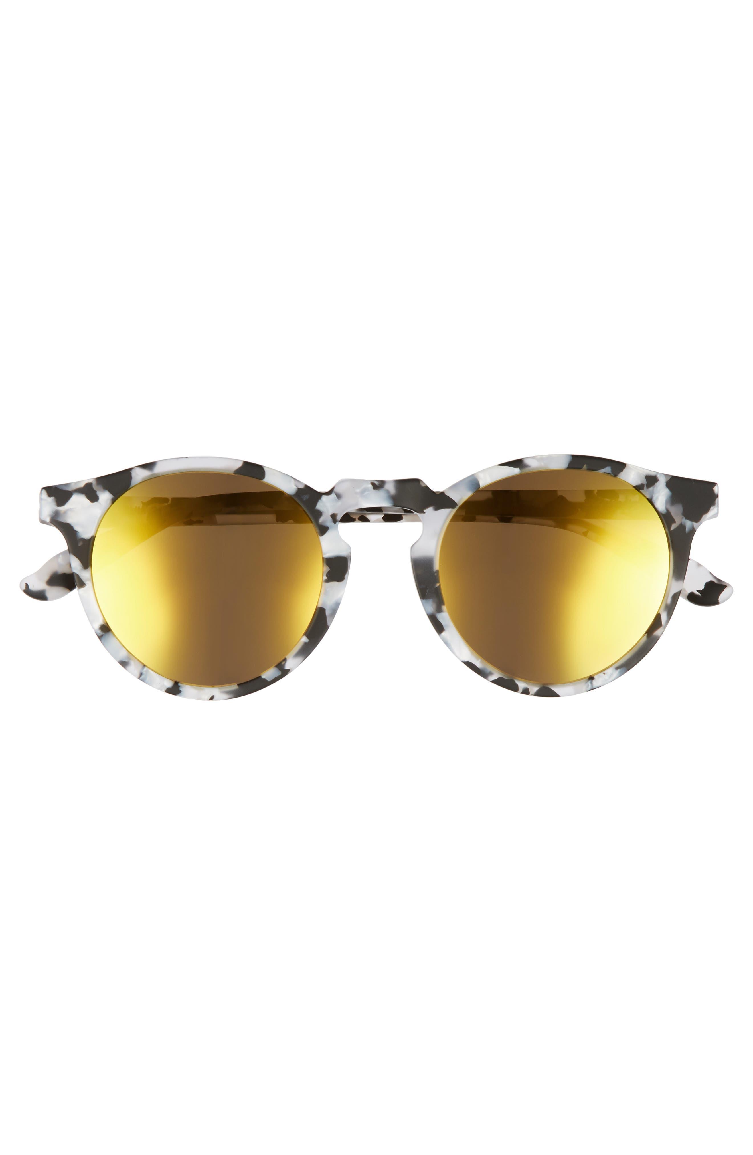 Stockholm 48mm Polarized Round Sunglasses,                             Alternate thumbnail 3, color,                             001