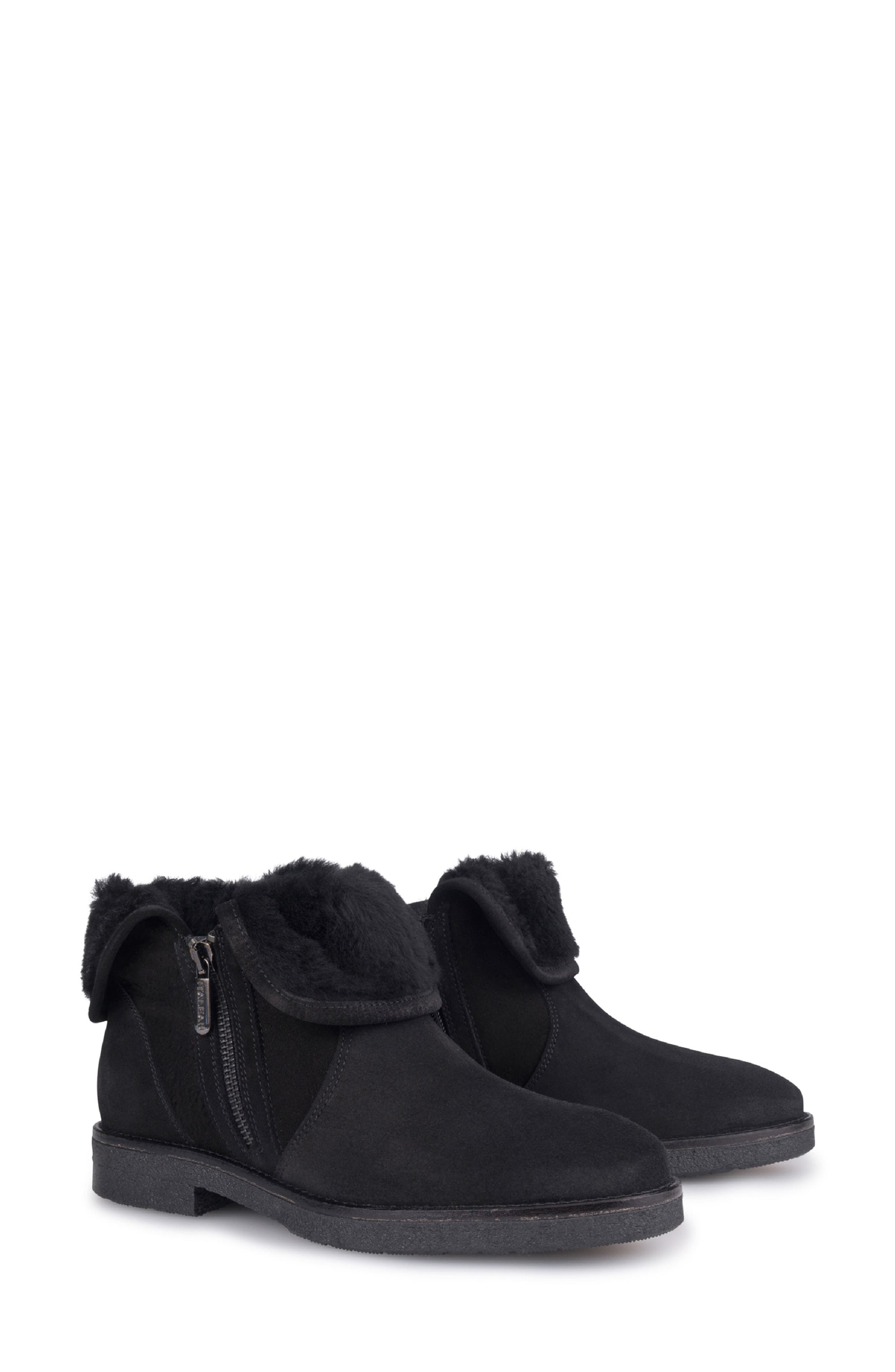 Rosie Genuine Shearling Lined Bootie,                             Main thumbnail 1, color,                             NERO