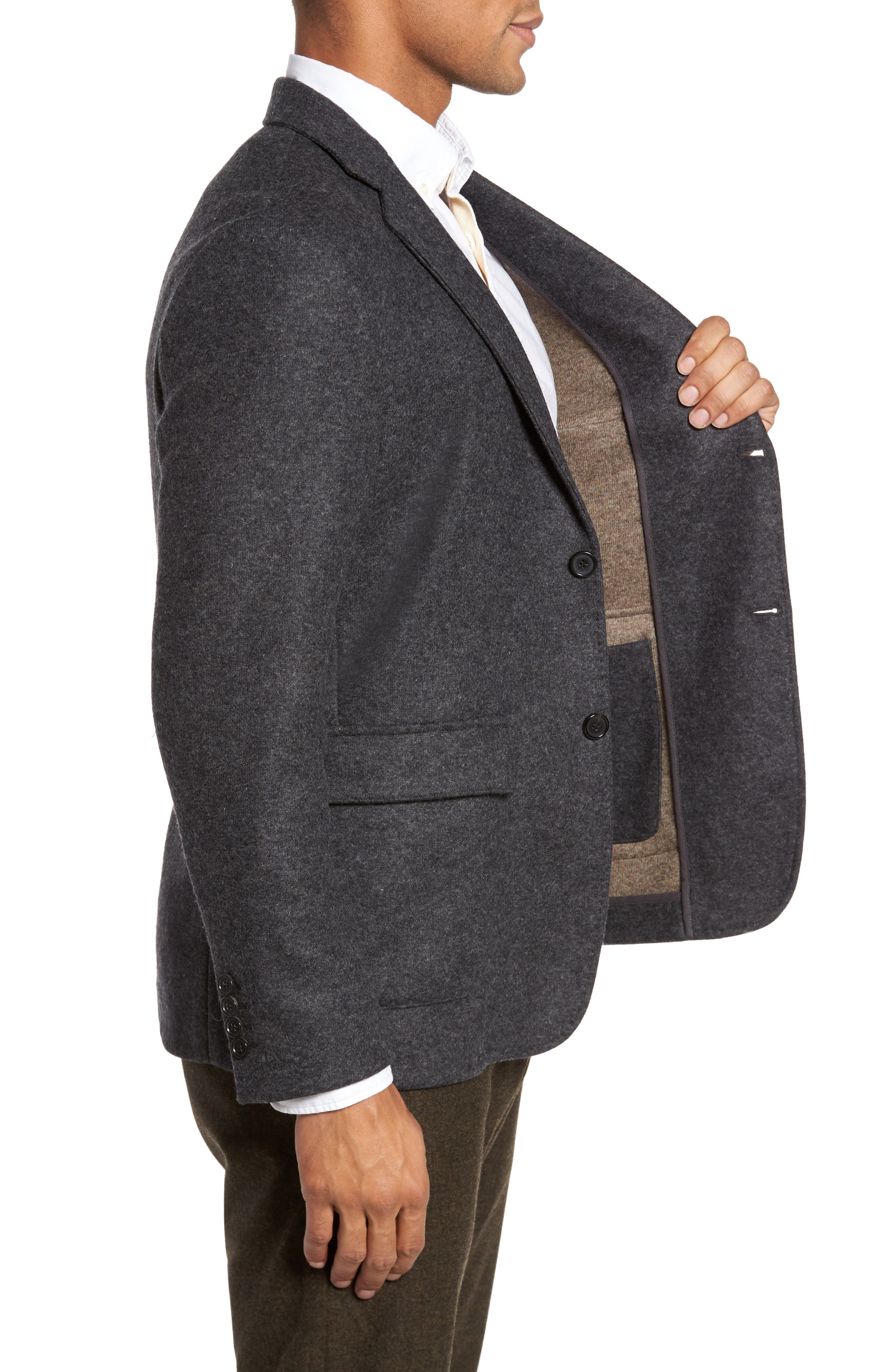 Charlie Classic Fit Wool Blend Knit Sport Coat,                             Alternate thumbnail 3, color,                             055