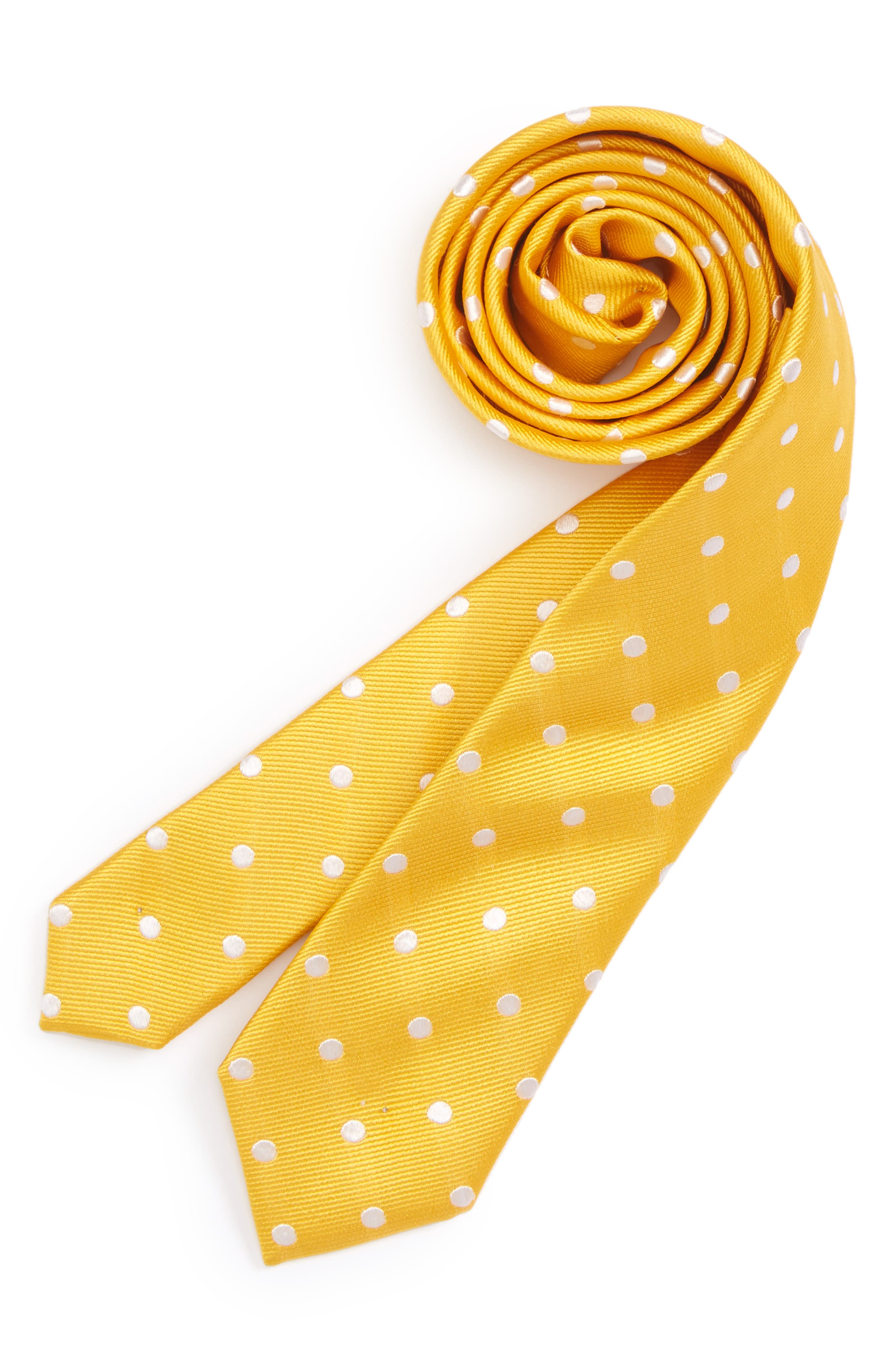 Dot Silk Tie,                         Main,                         color,