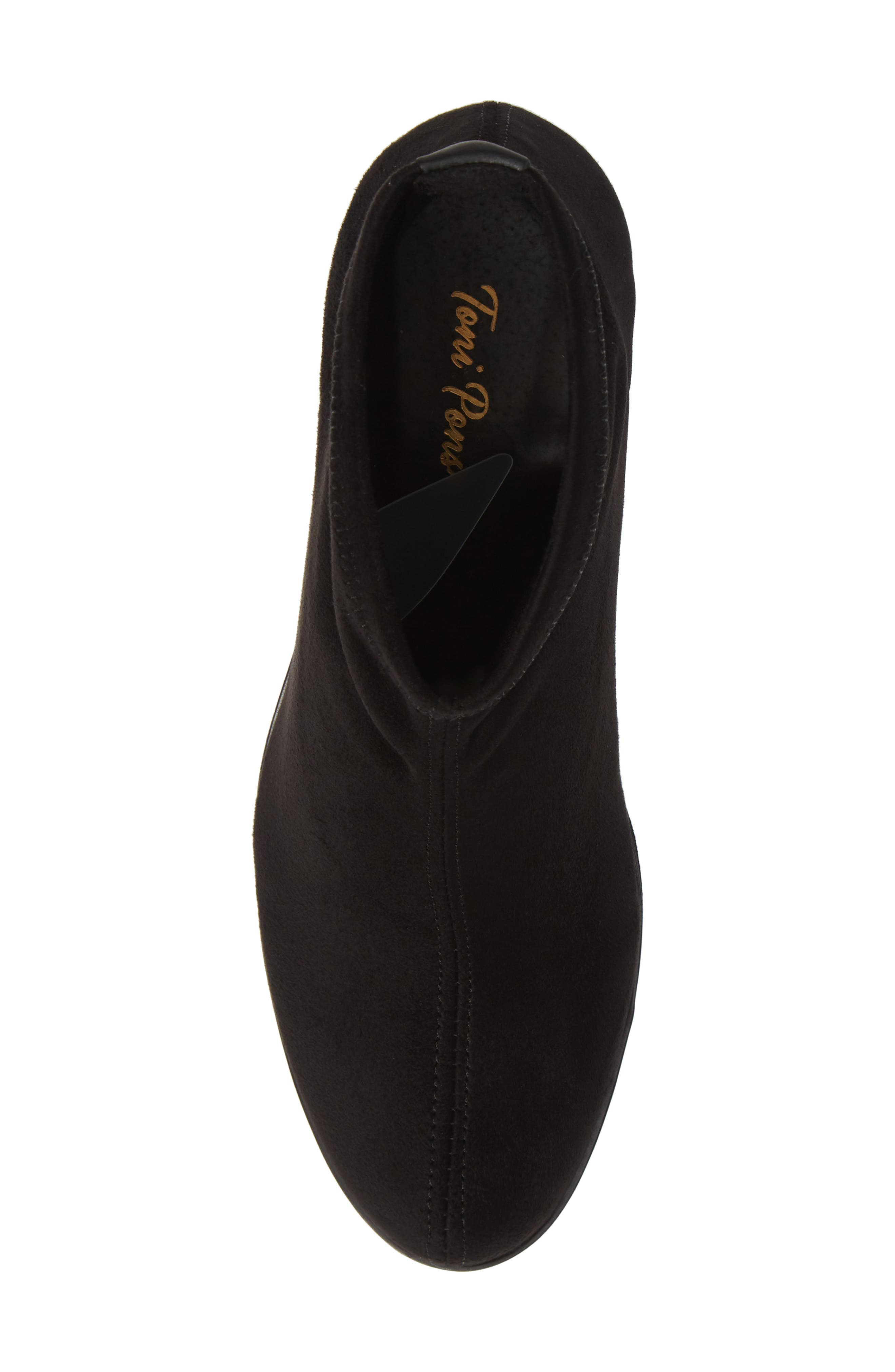 'Finley' Bootie,                             Alternate thumbnail 5, color,                             BLACK/ BLACK FABRIC