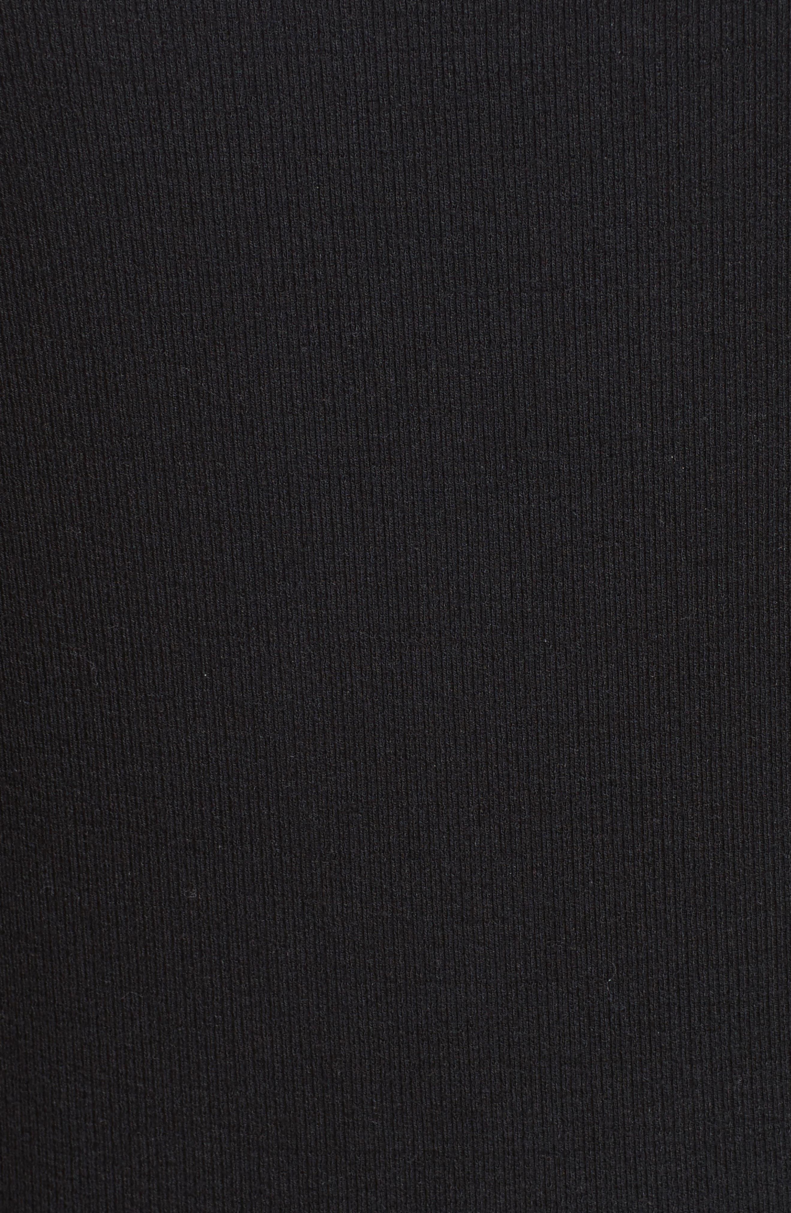 Off the Shoulder Rib Dress,                             Alternate thumbnail 5, color,                             001