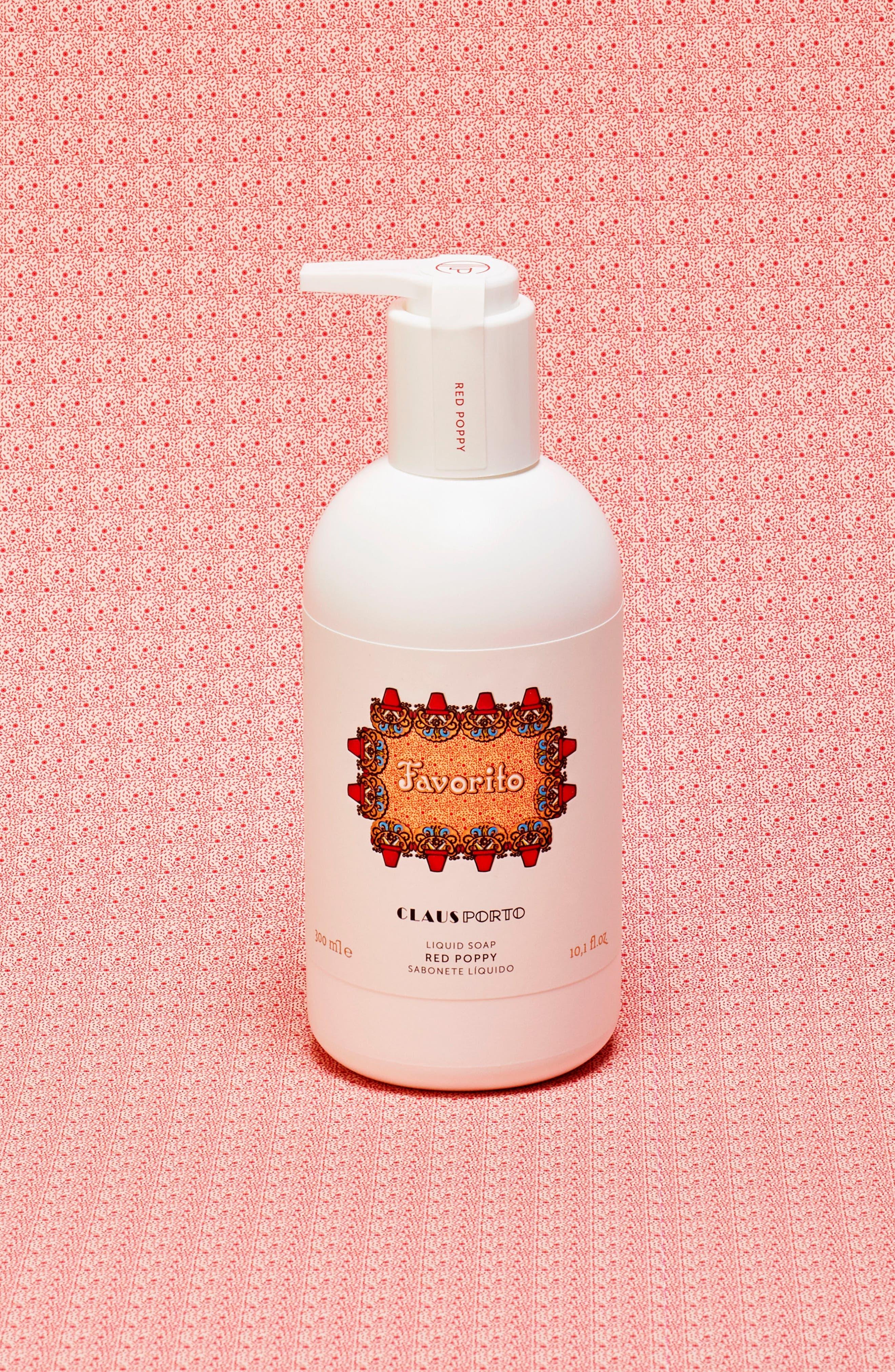 Favorito Red Poppy Liquid Soap,                             Alternate thumbnail 2, color,                             NO COLOR