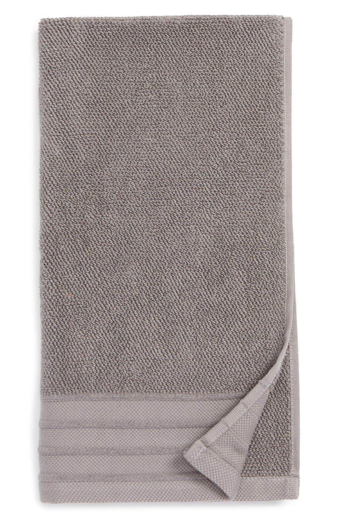 Classic Luxe Hand Towel,                         Main,                         color, GRANITE