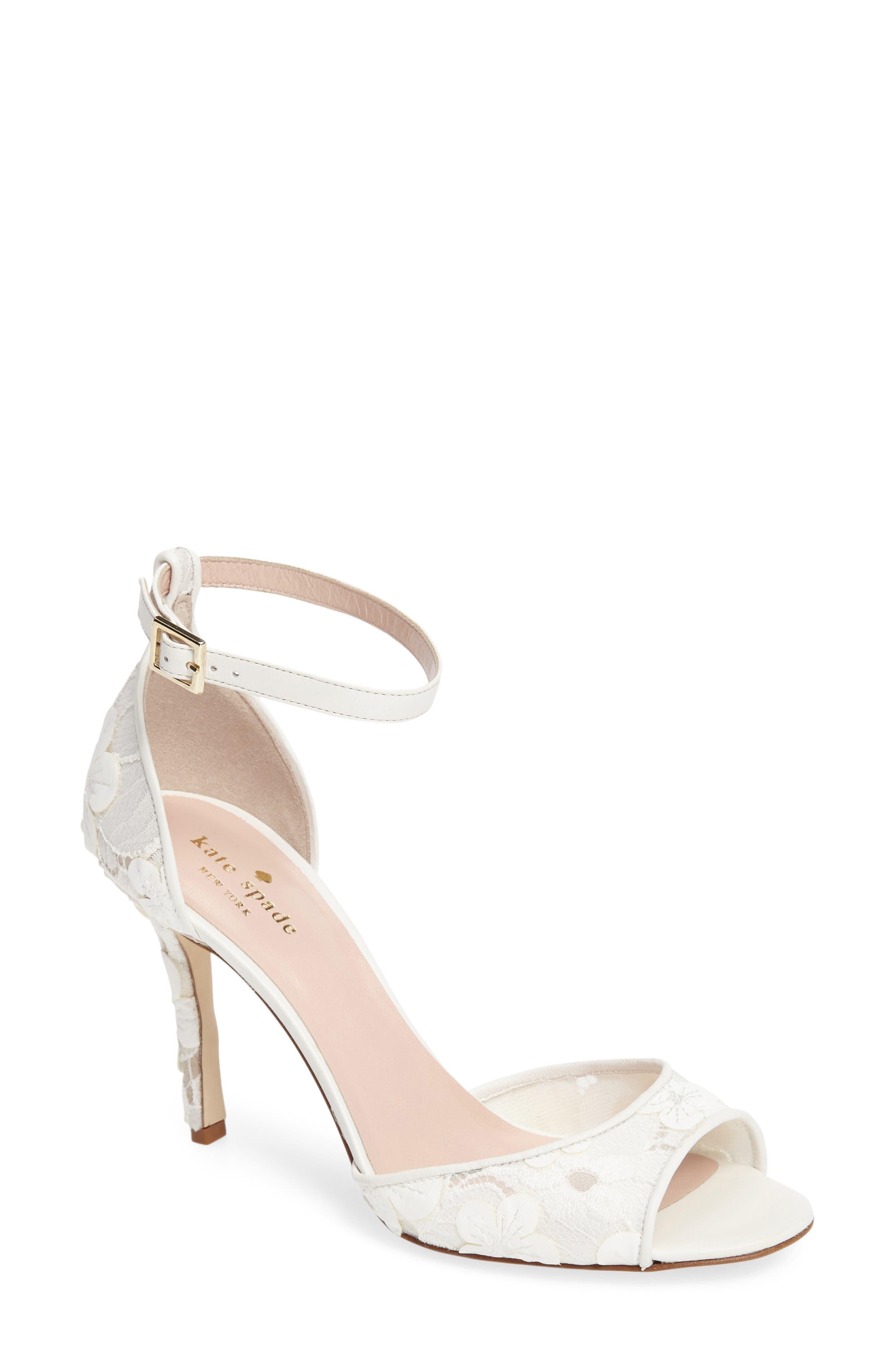 ideline floral lace sandal,                         Main,                         color, 112