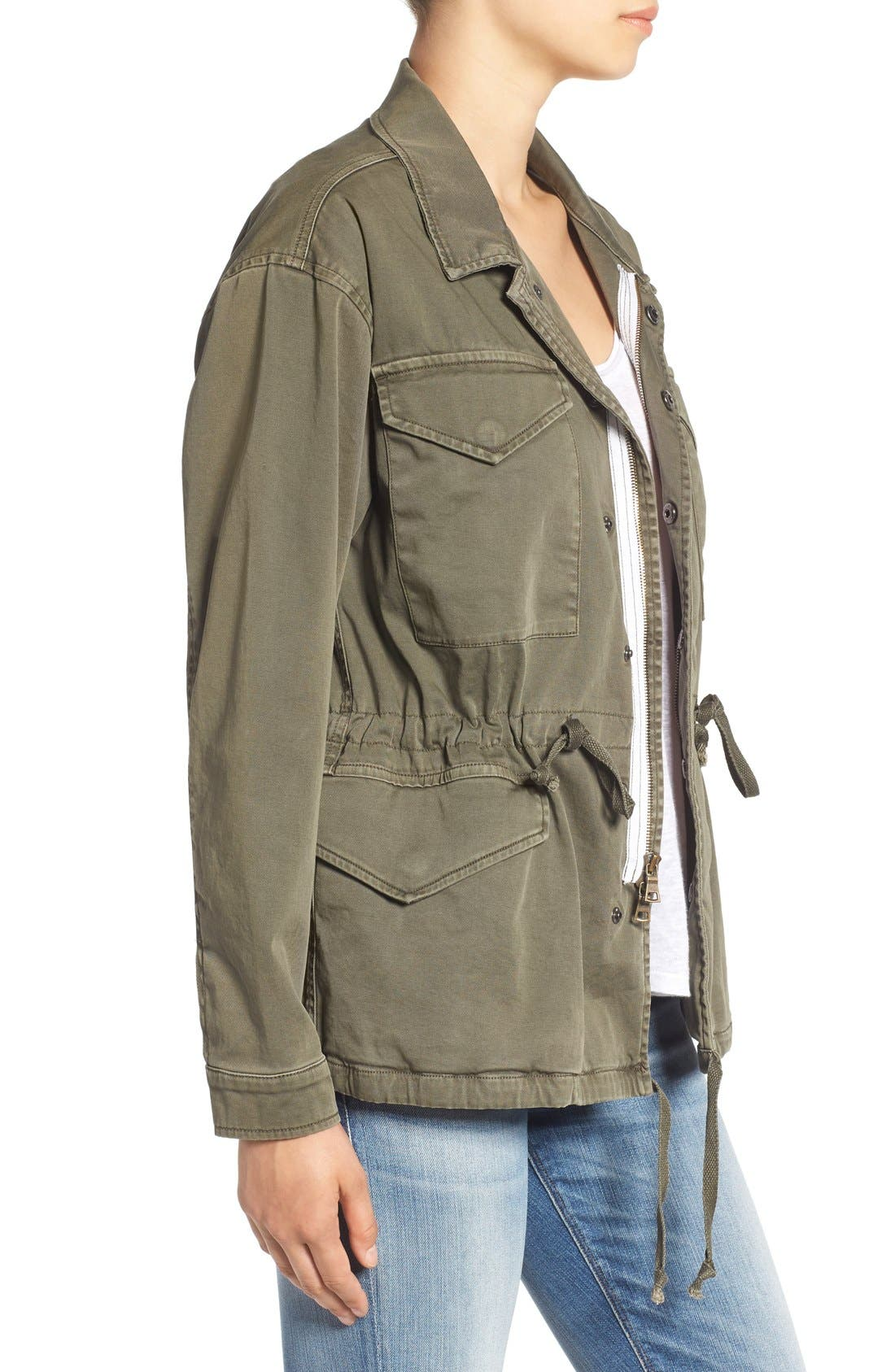 'Sienna' Stretch Cotton Field Jacket,                             Alternate thumbnail 3, color,                             300