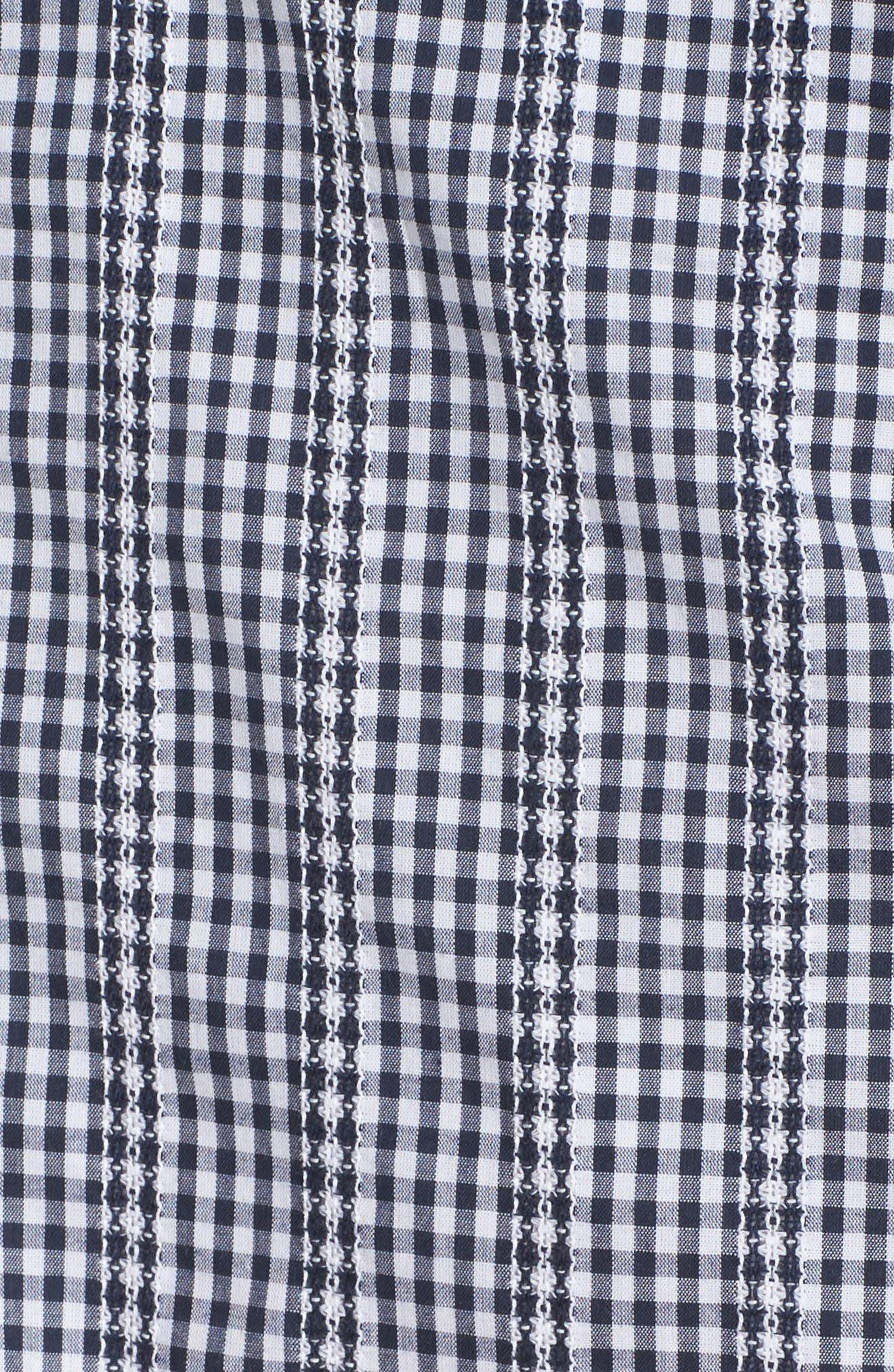 ADELYN RAE,                             Gingham One-Shoulder Ruffle Dress,                             Alternate thumbnail 5, color,                             410
