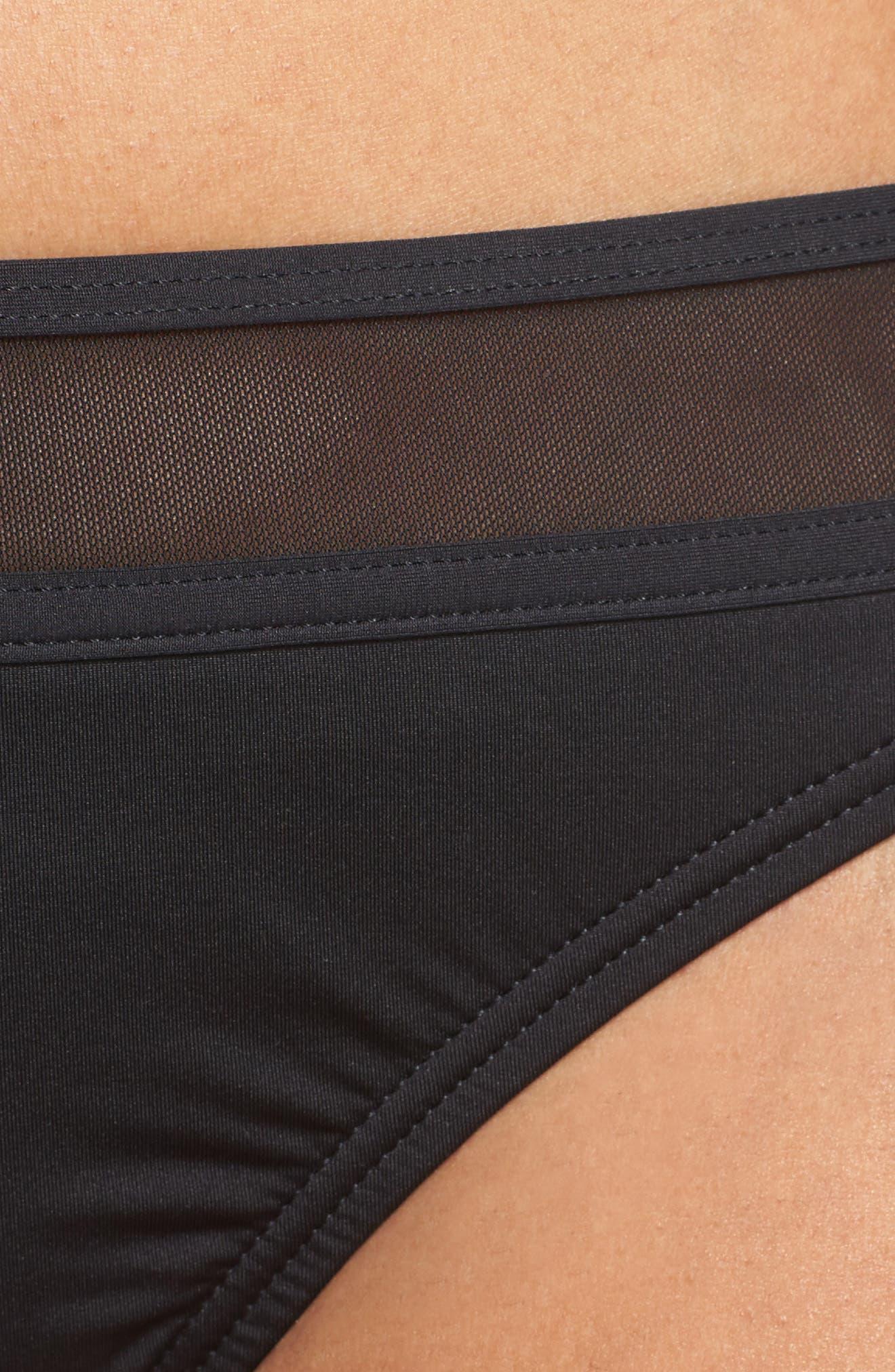 Mesh Bikini Bottoms,                             Alternate thumbnail 5, color,                             001
