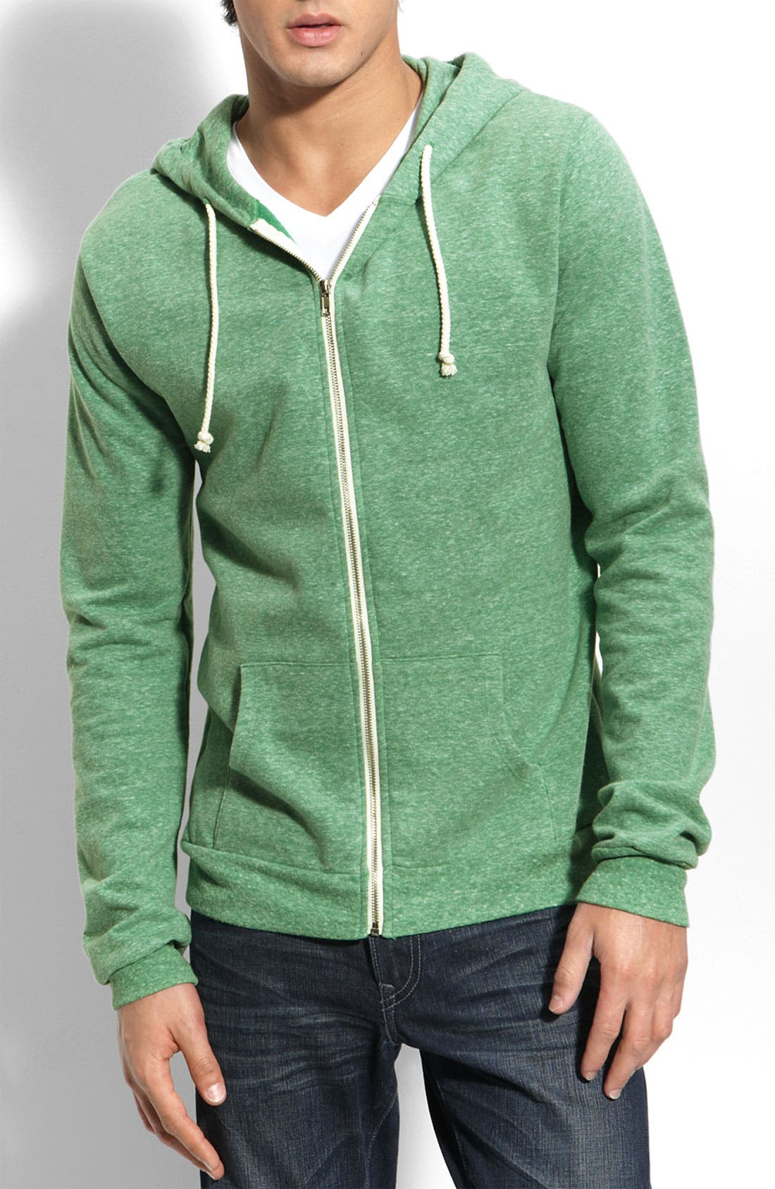Threads for Thought Trim Fit Heathered Hoodie,                             Main thumbnail 7, color,