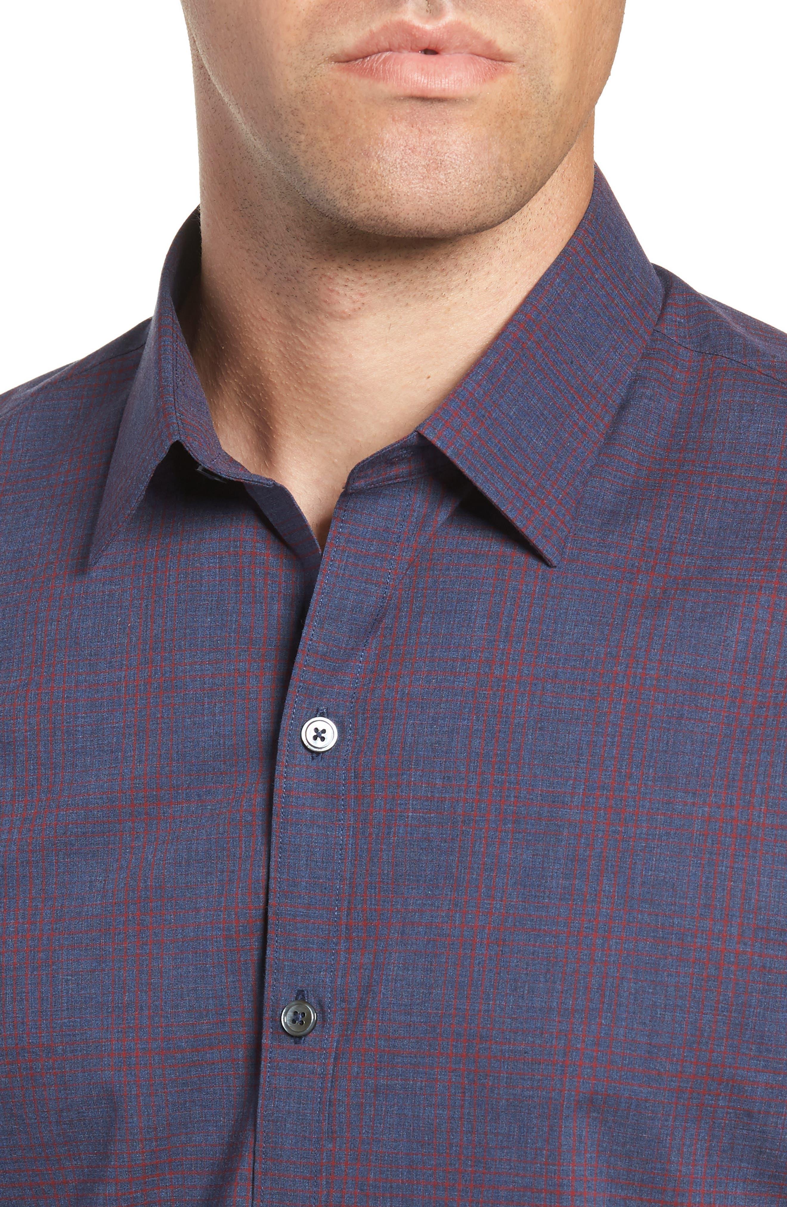 ZACHARY PRELL,                             Maslin Regular Fit Sport Shirt,                             Alternate thumbnail 2, color,                             461