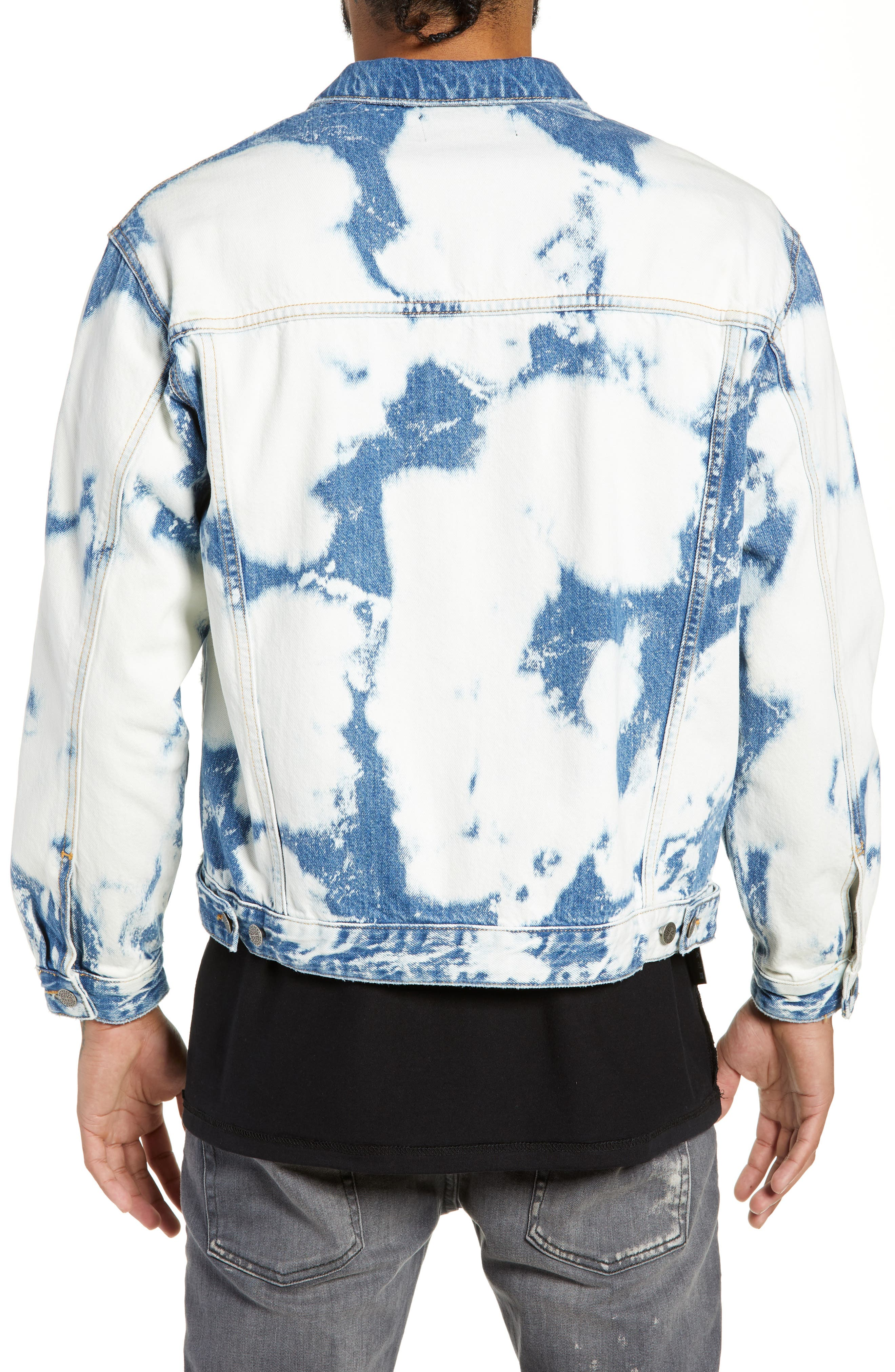Stained Denim Jacket,                             Alternate thumbnail 2, color,                             STAINED