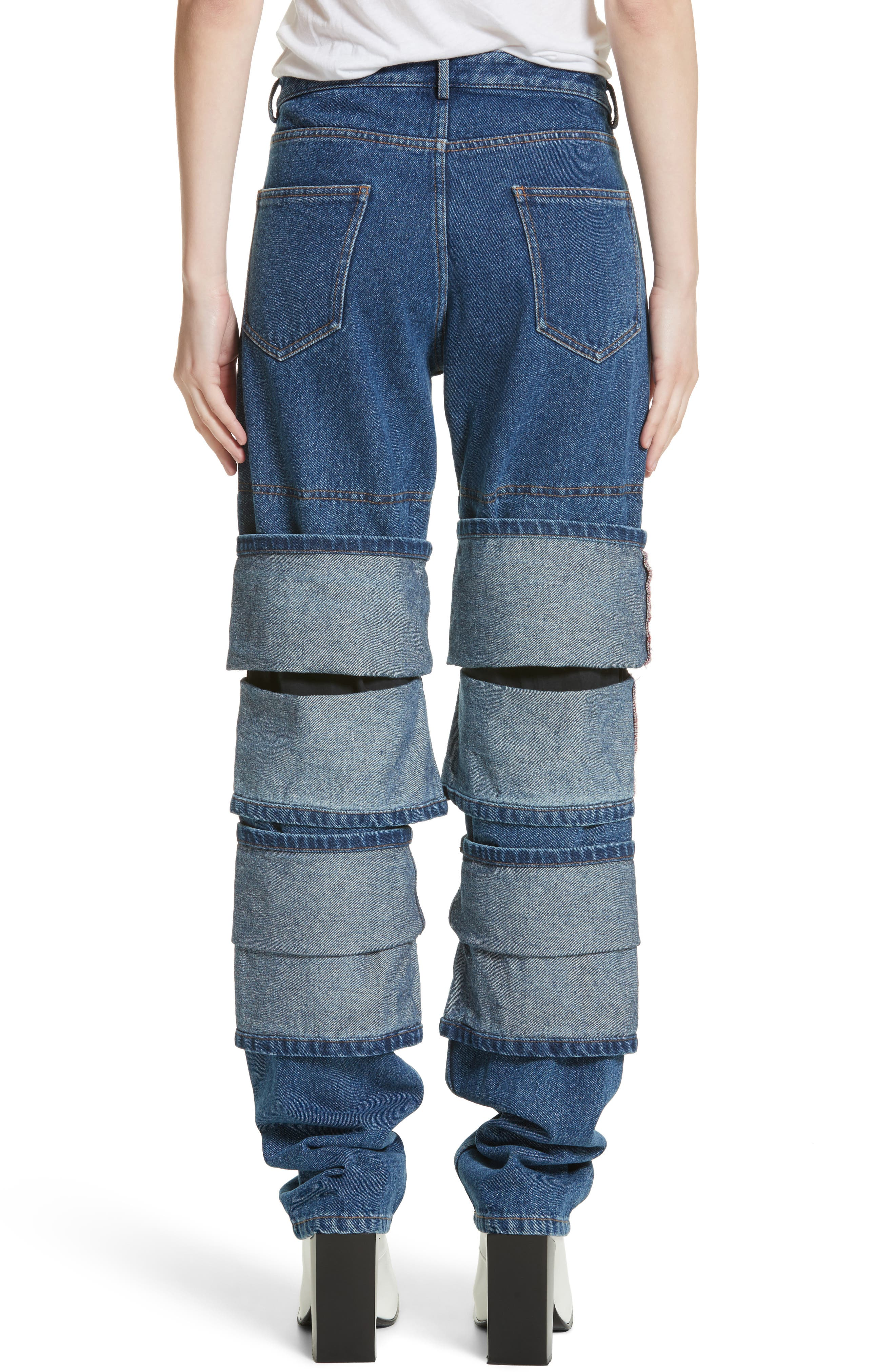 Layered Cuff Jeans,                             Alternate thumbnail 2, color,                             410
