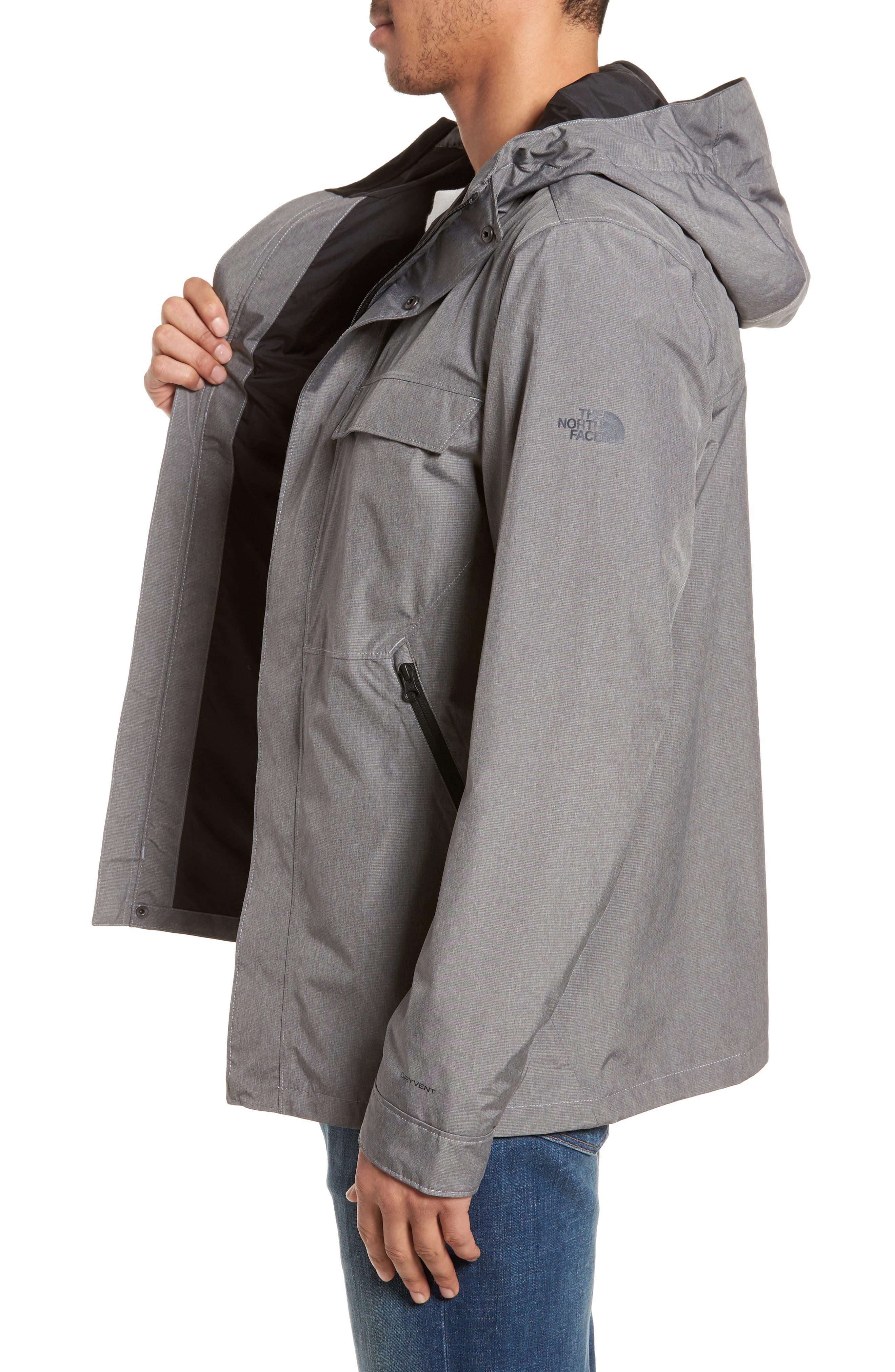 Jenison II Insulated Waterproof Jacket,                             Alternate thumbnail 3, color,                             TNF MEDIUM GREY HEATHER