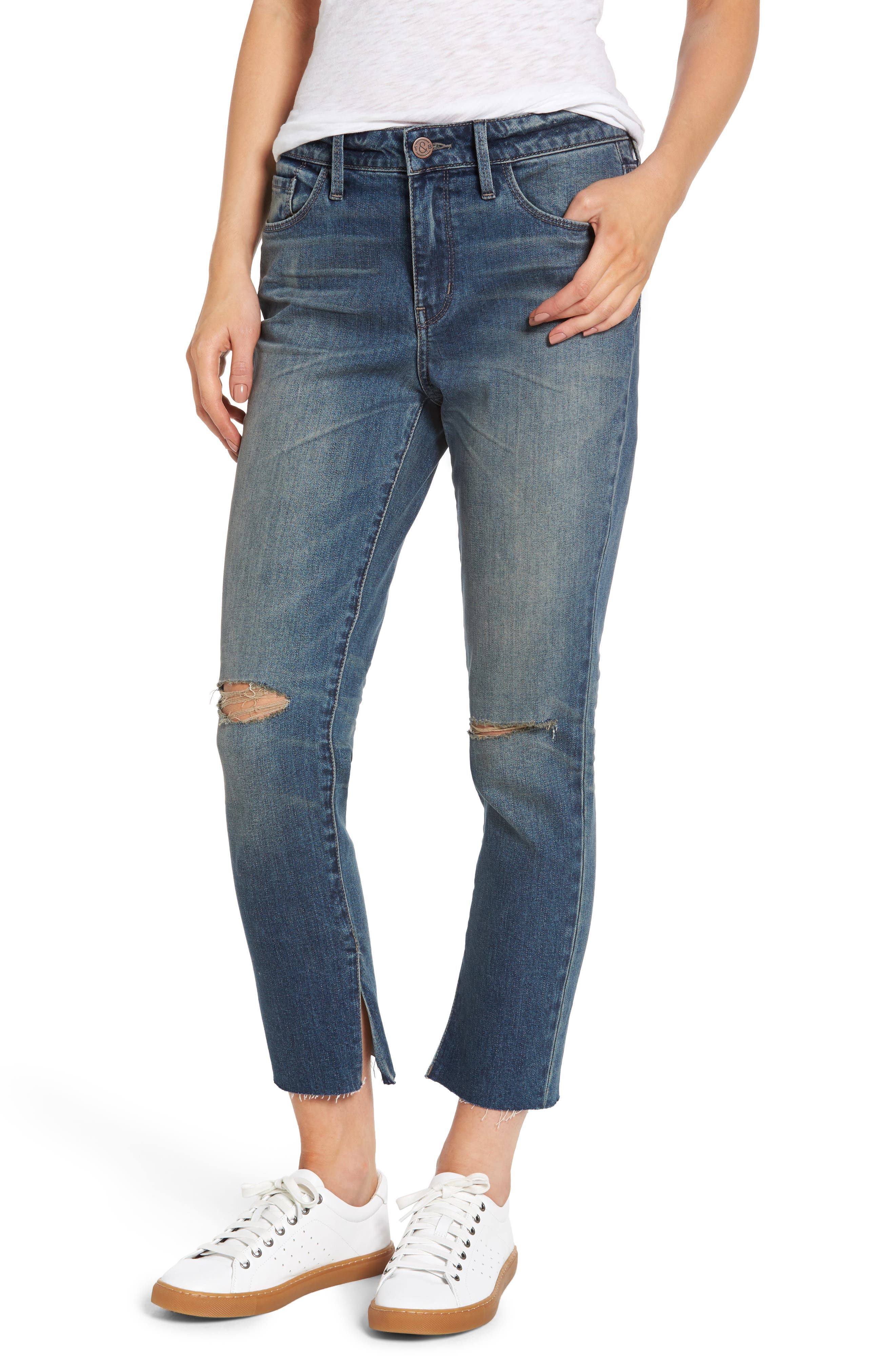 High Waist Skinny Crop Jeans,                             Main thumbnail 1, color,                             400