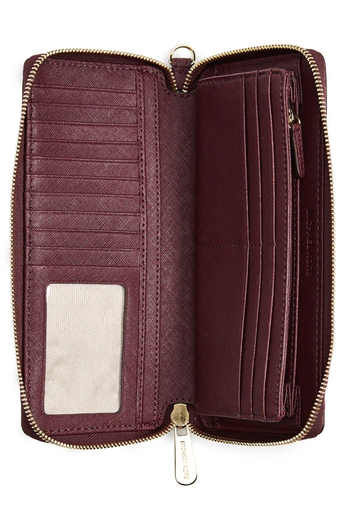 'Jet Set' Leather Travel Wallet,                             Alternate thumbnail 23, color,