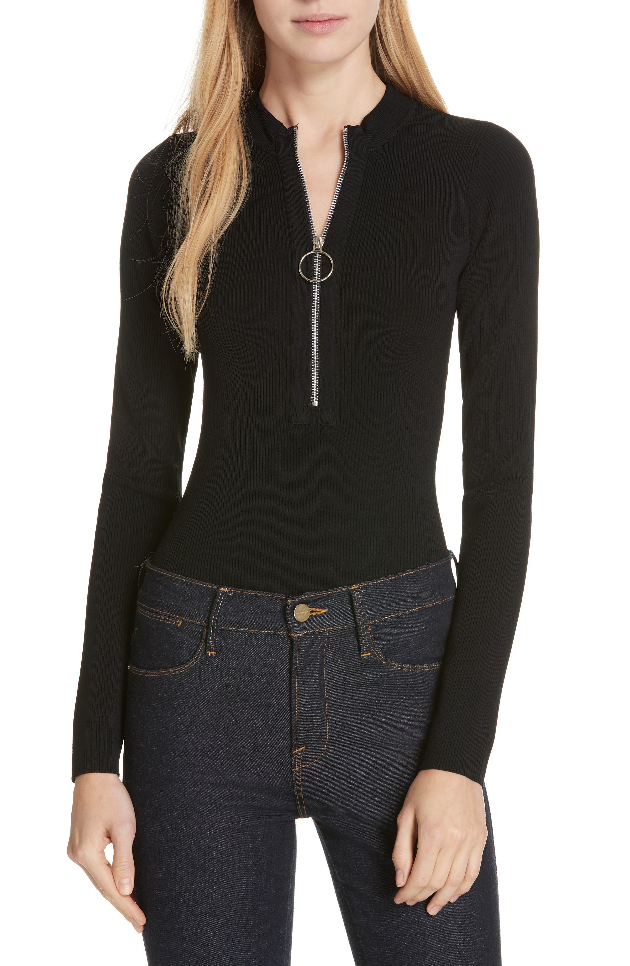 Nicholas Milano Knit Bodysuit, Black