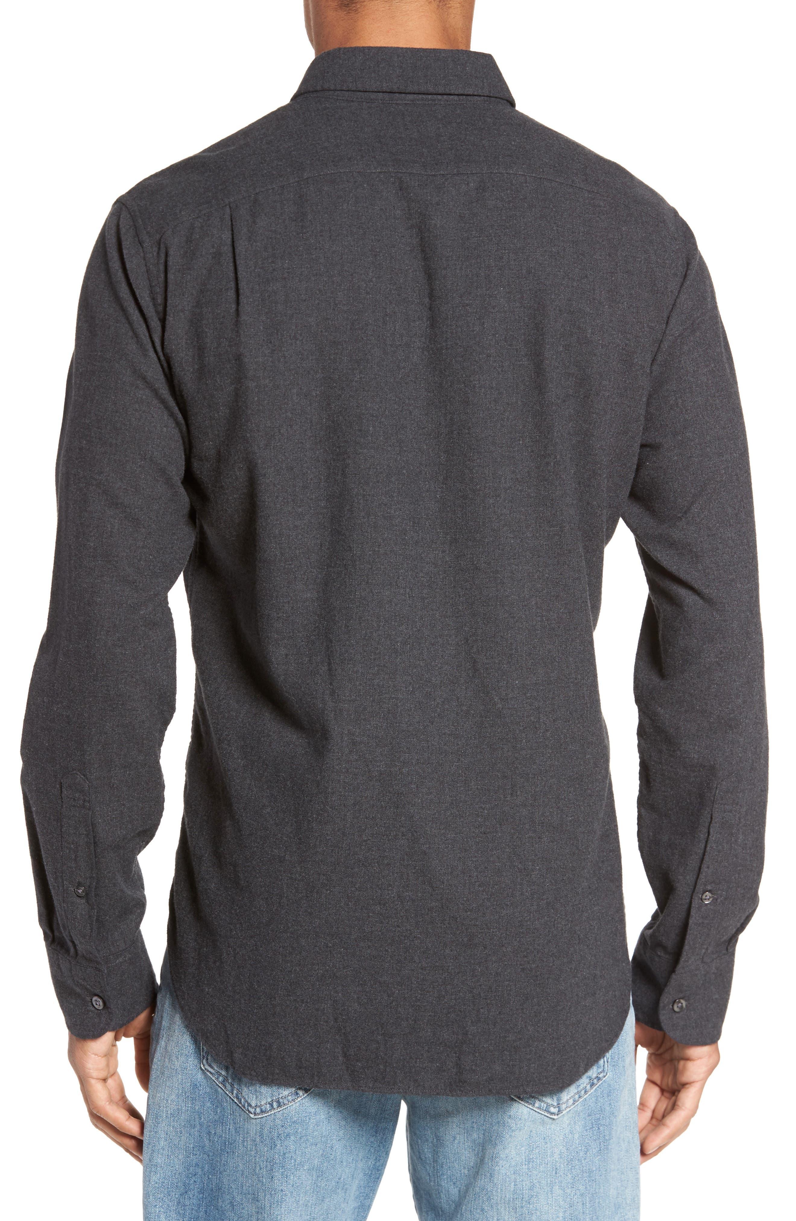 Slim Fit Brushed Twill Sport Shirt,                             Alternate thumbnail 2, color,                             020
