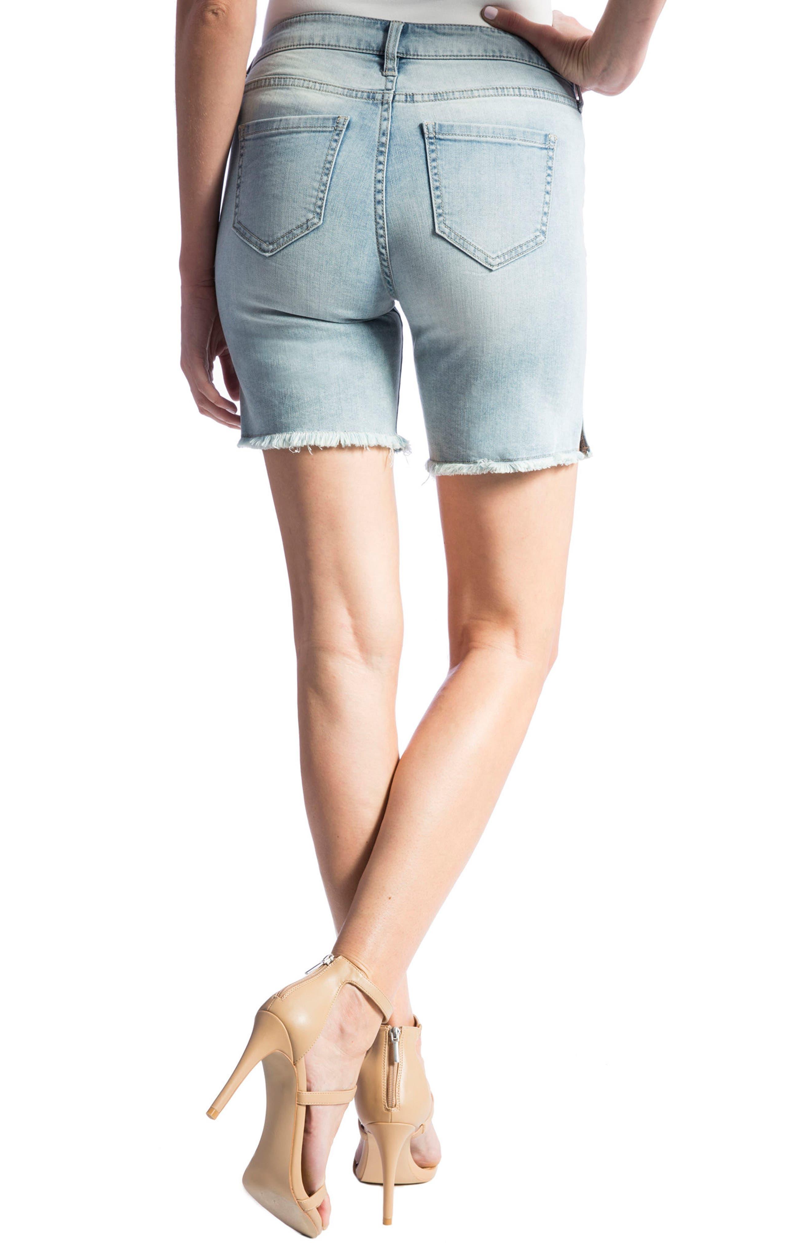 Corine Denim Shorts,                             Alternate thumbnail 2, color,                             402