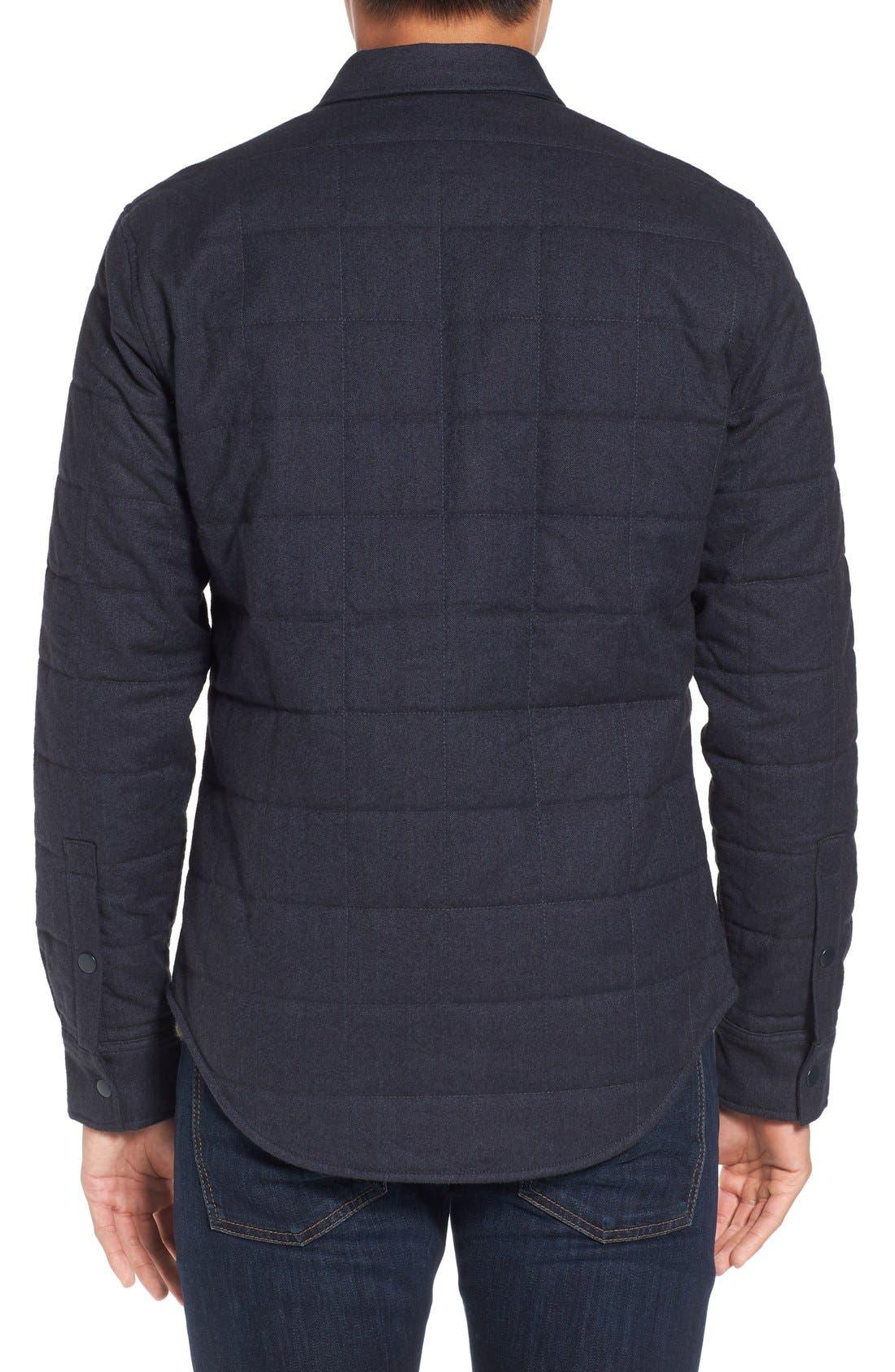 Quilted Herringbone Shirt Jacket,                             Alternate thumbnail 4, color,