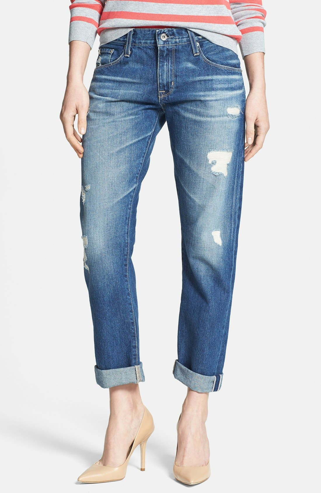 'Joey' Boyfriend Jeans, Main, color, 406