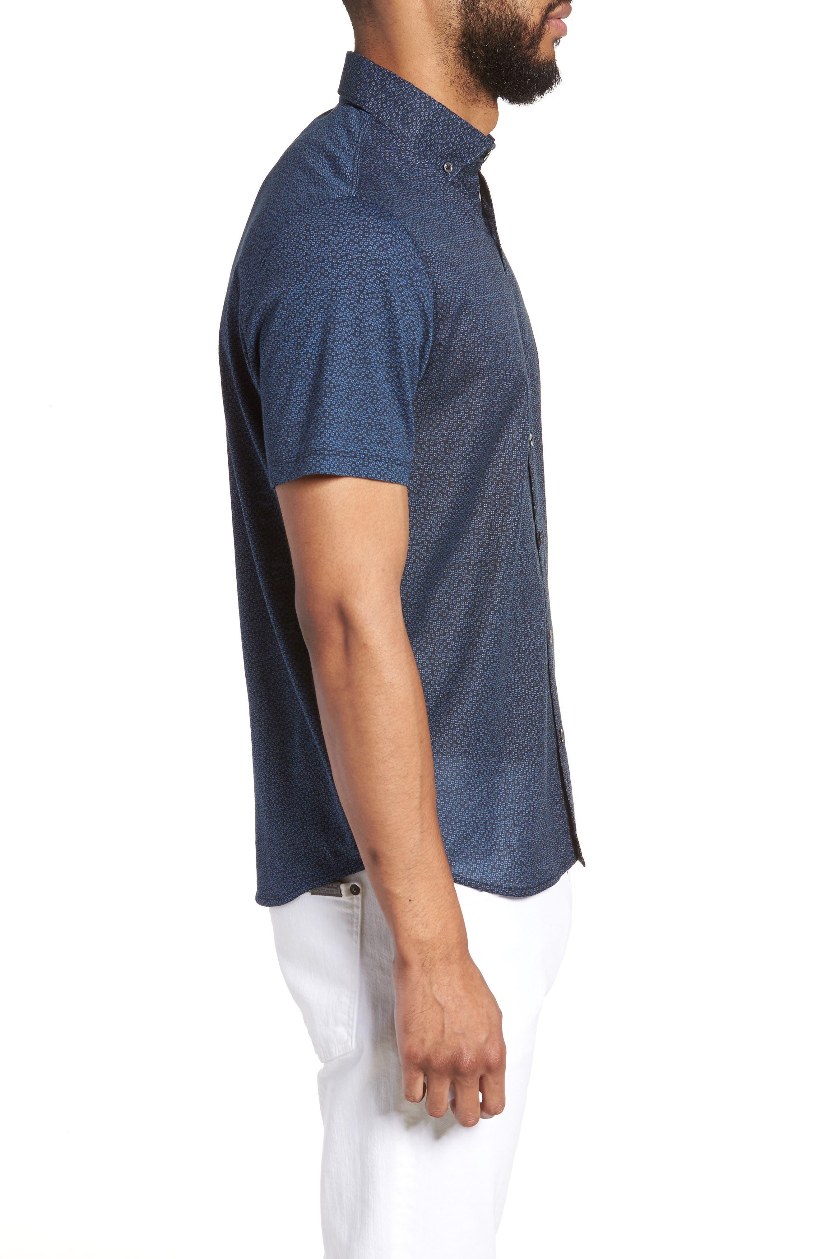 Clyde Slim Fit Sport Shirt,                             Alternate thumbnail 3, color,                             410