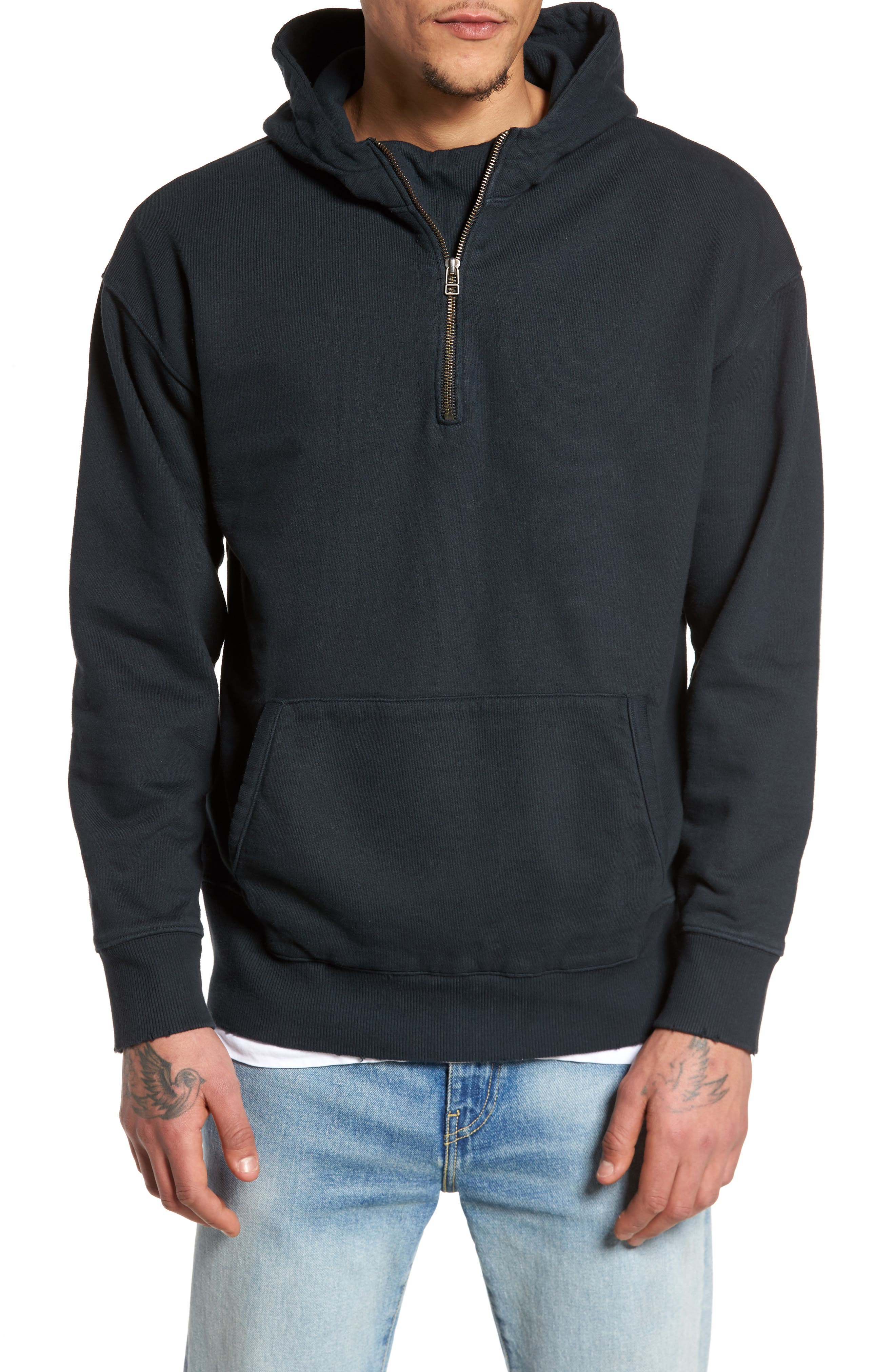 French Terry Hoodie,                         Main,                         color, 001