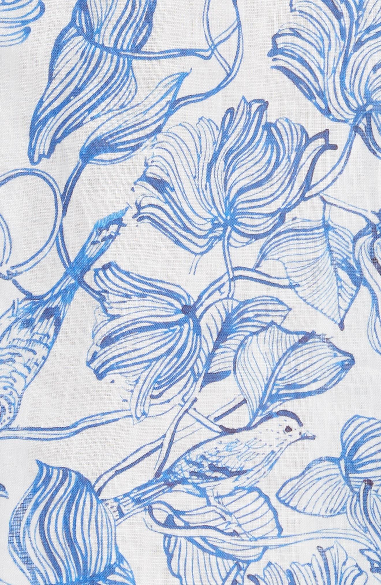 RACHEL COMEY,                             Lido Linen Dress,                             Alternate thumbnail 5, color,                             435