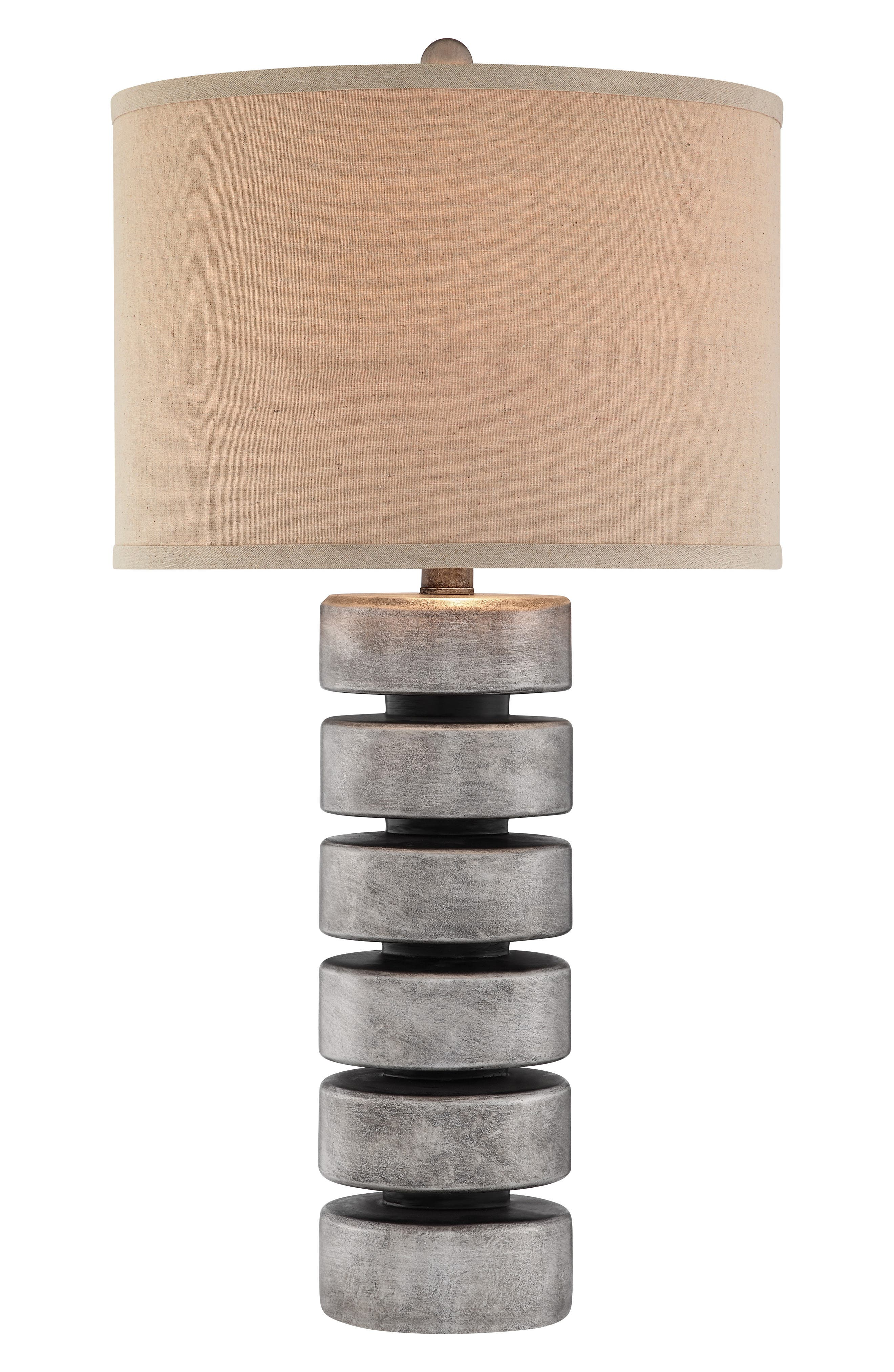 'Stacked Disc' Table Lamp,                             Alternate thumbnail 2, color,                             ANTIQUE PEWTER