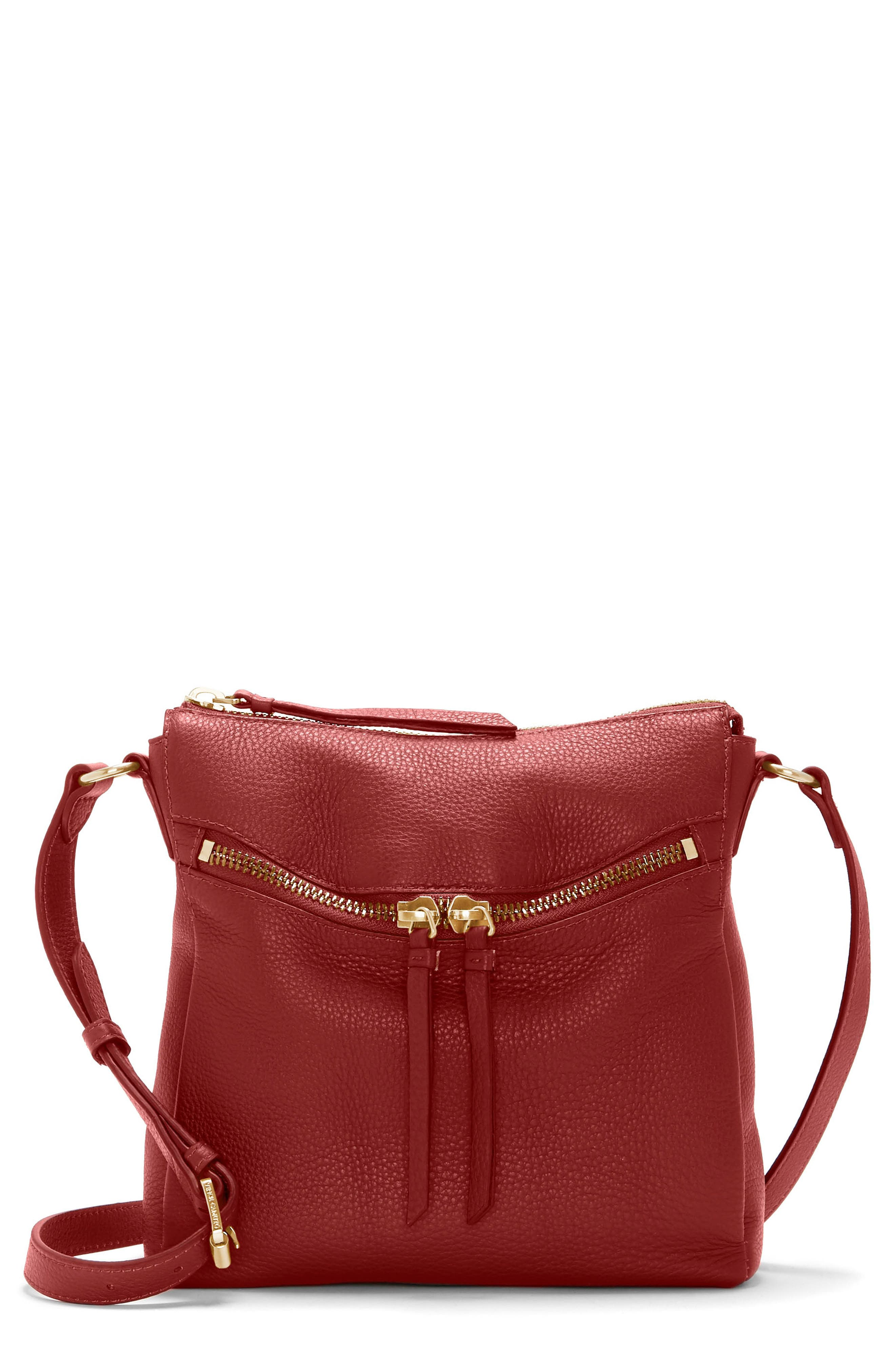 Staja Leather Crossbody Bag,                             Main thumbnail 1, color,                             PEPPER BERRY
